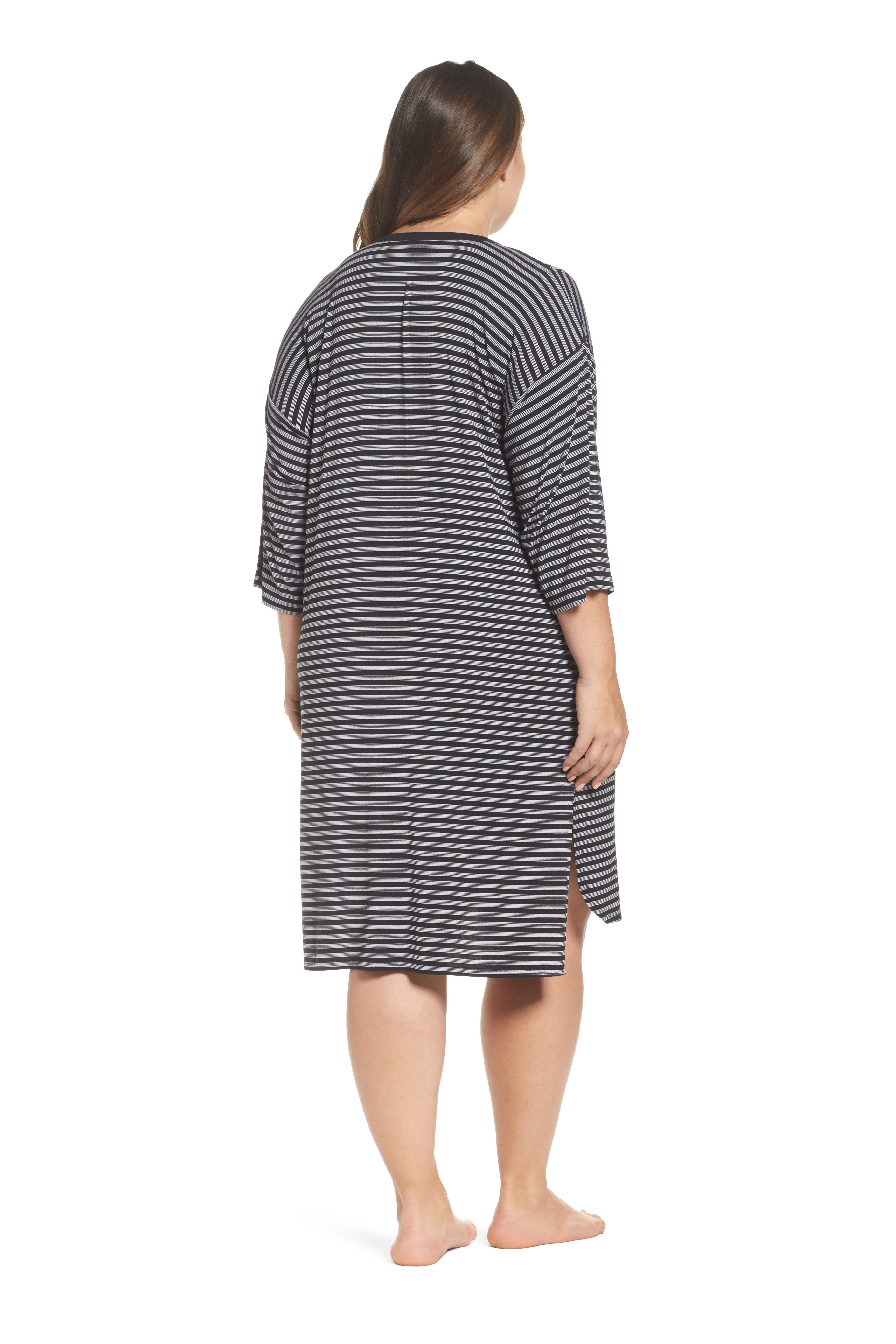 Stripe Sleepshirt,                             Alternate thumbnail 2, color,                             001