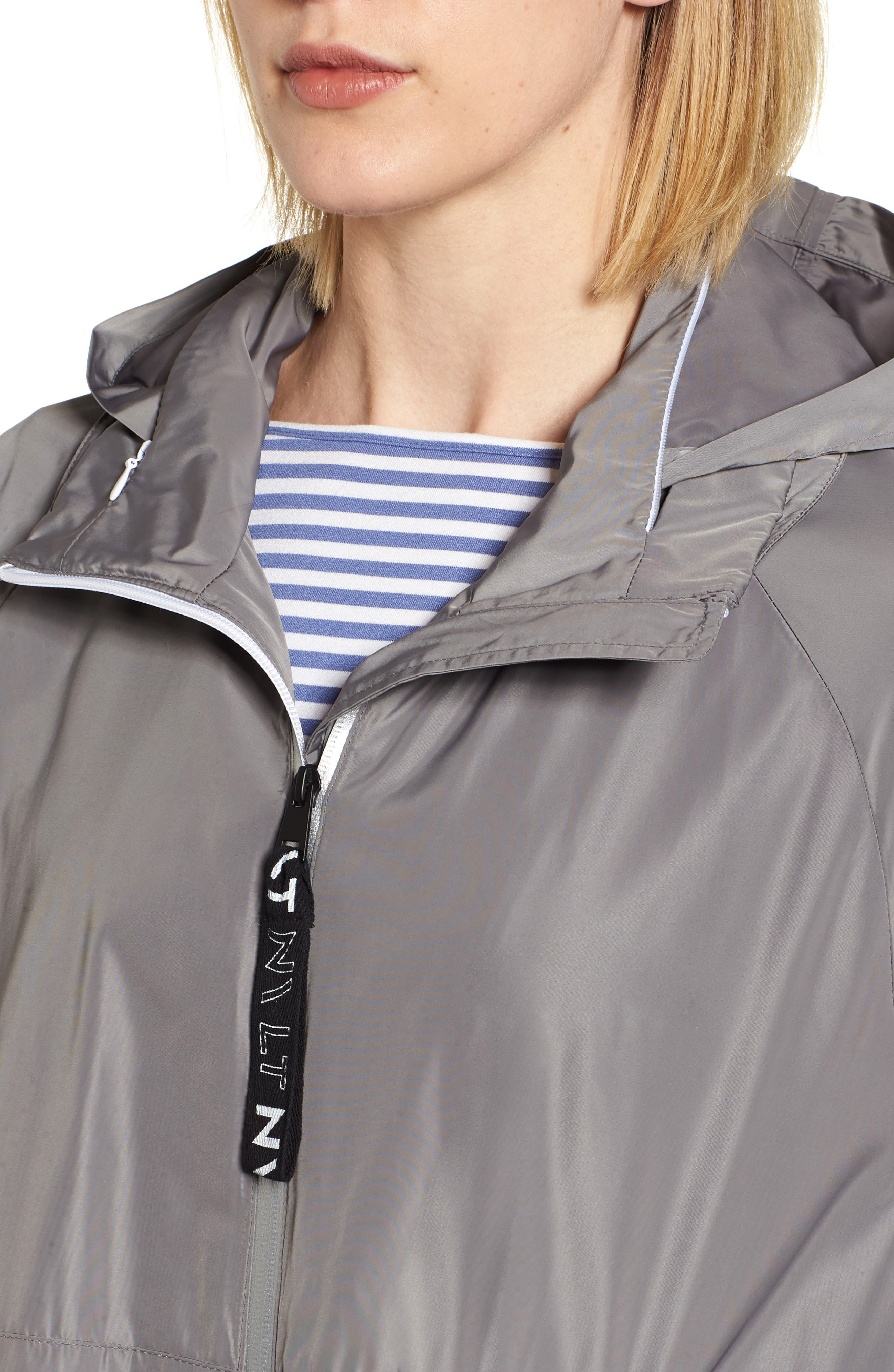 Poly-Luxe Packable Oversize Jacket,                             Alternate thumbnail 4, color,                             020