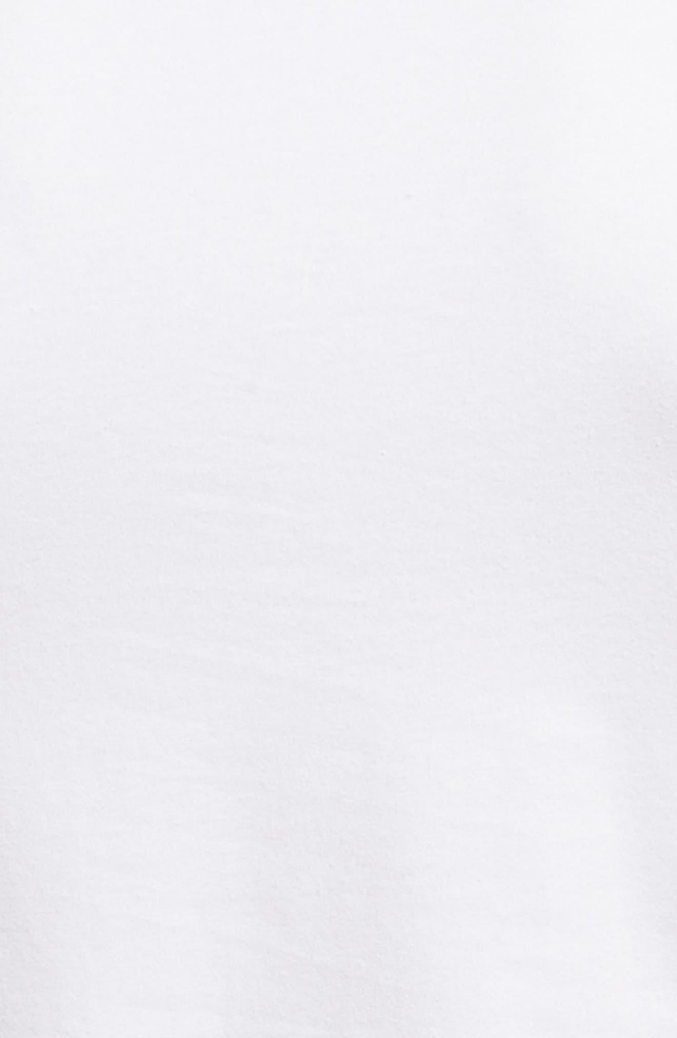 Trim Fit 3-Pack Stretch Cotton Crewneck T-Shirt,                             Alternate thumbnail 5, color,                             WHITE