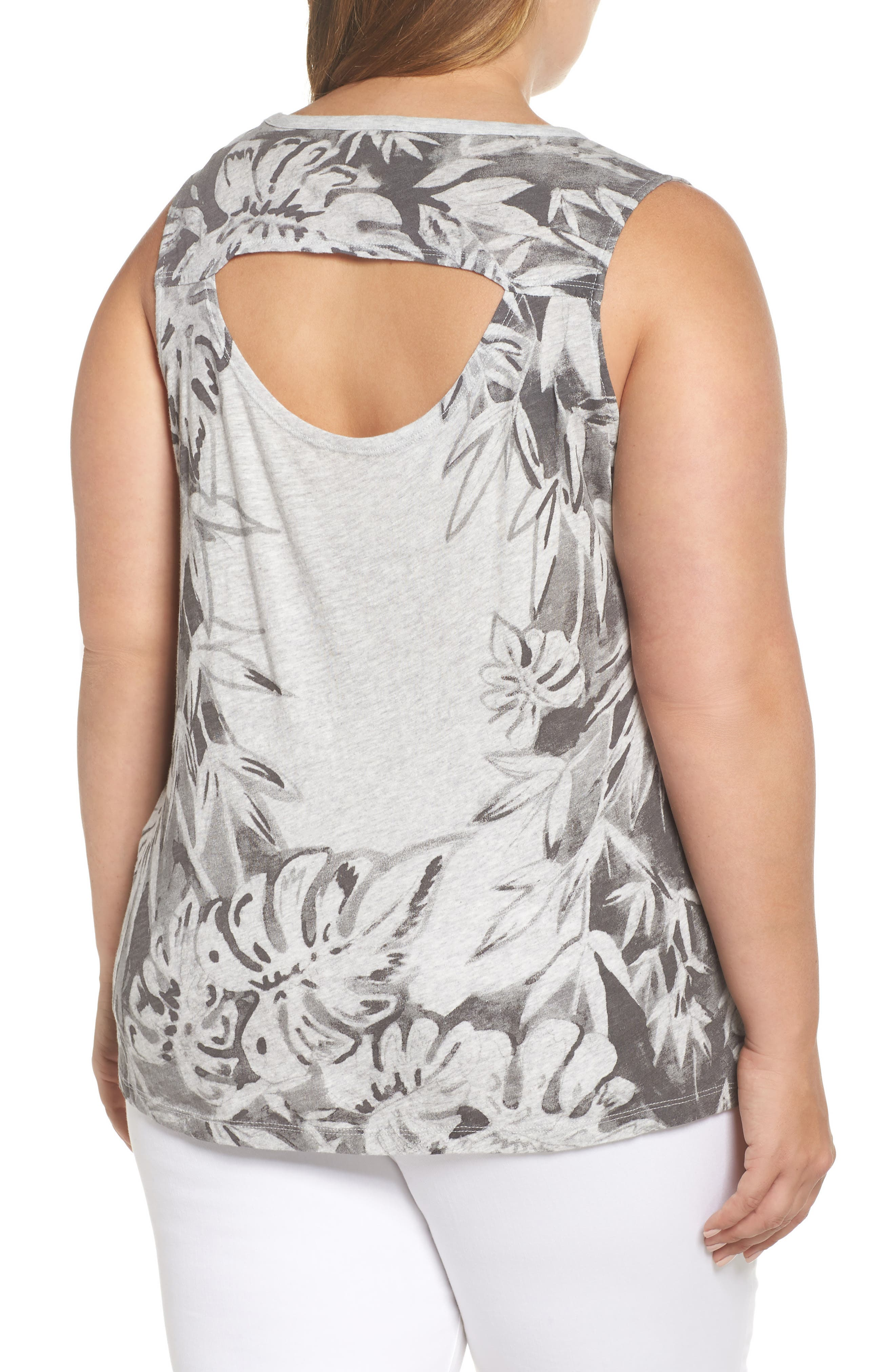 Print Floral Tank,                             Alternate thumbnail 2, color,                             060