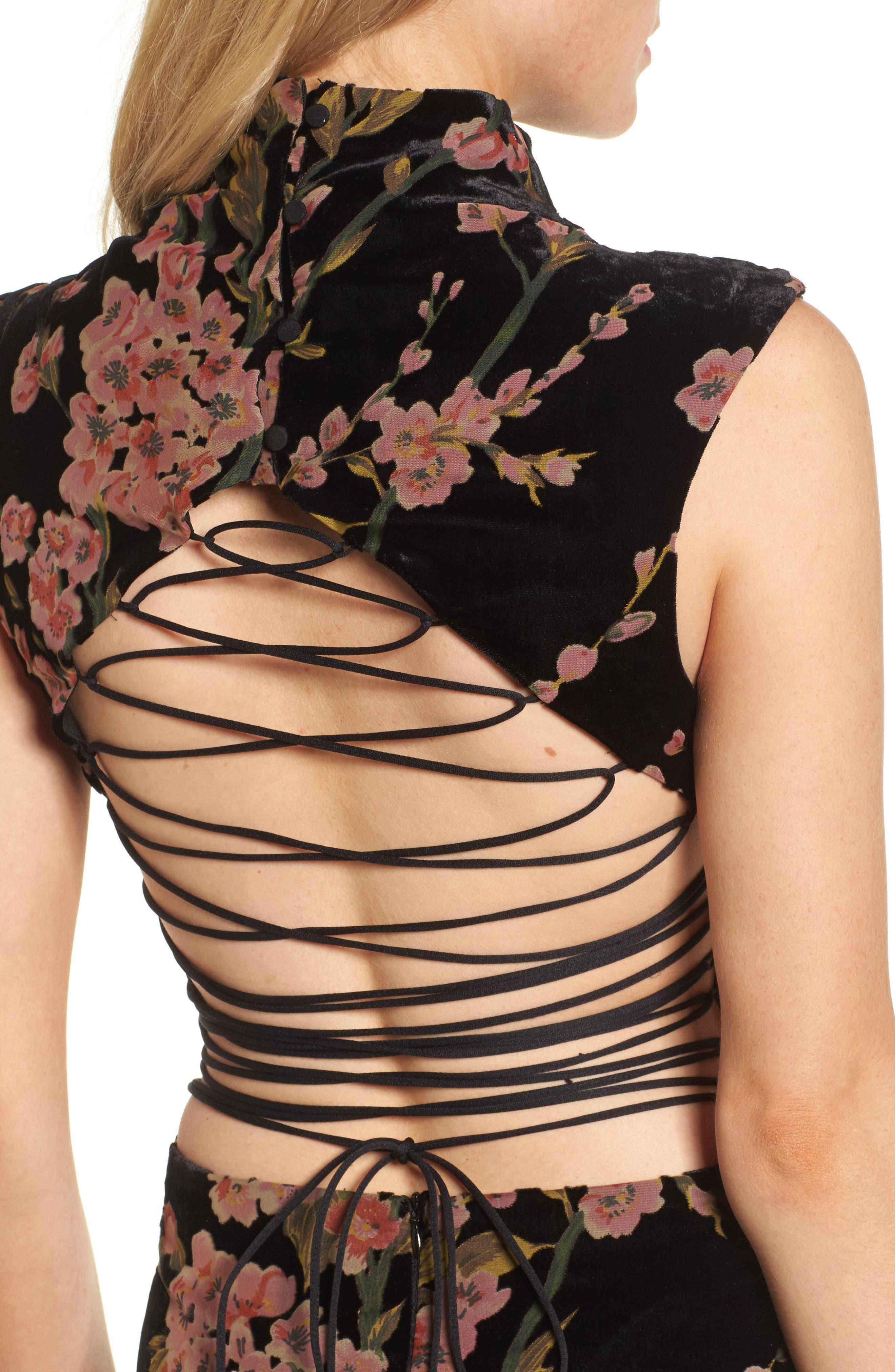 Salon Velvet Minidress,                             Alternate thumbnail 4, color,