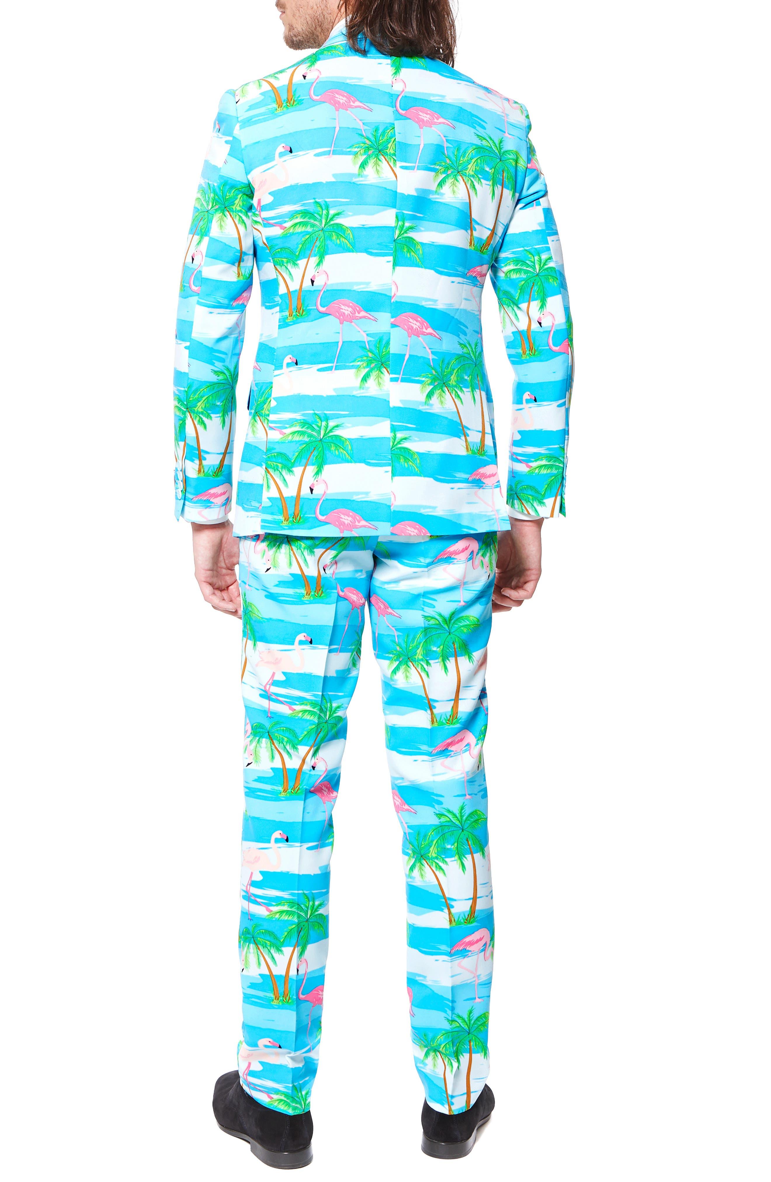 'Flaminguy' Trim Fit Two-Piece Suit with Tie,                             Alternate thumbnail 2, color,                             400