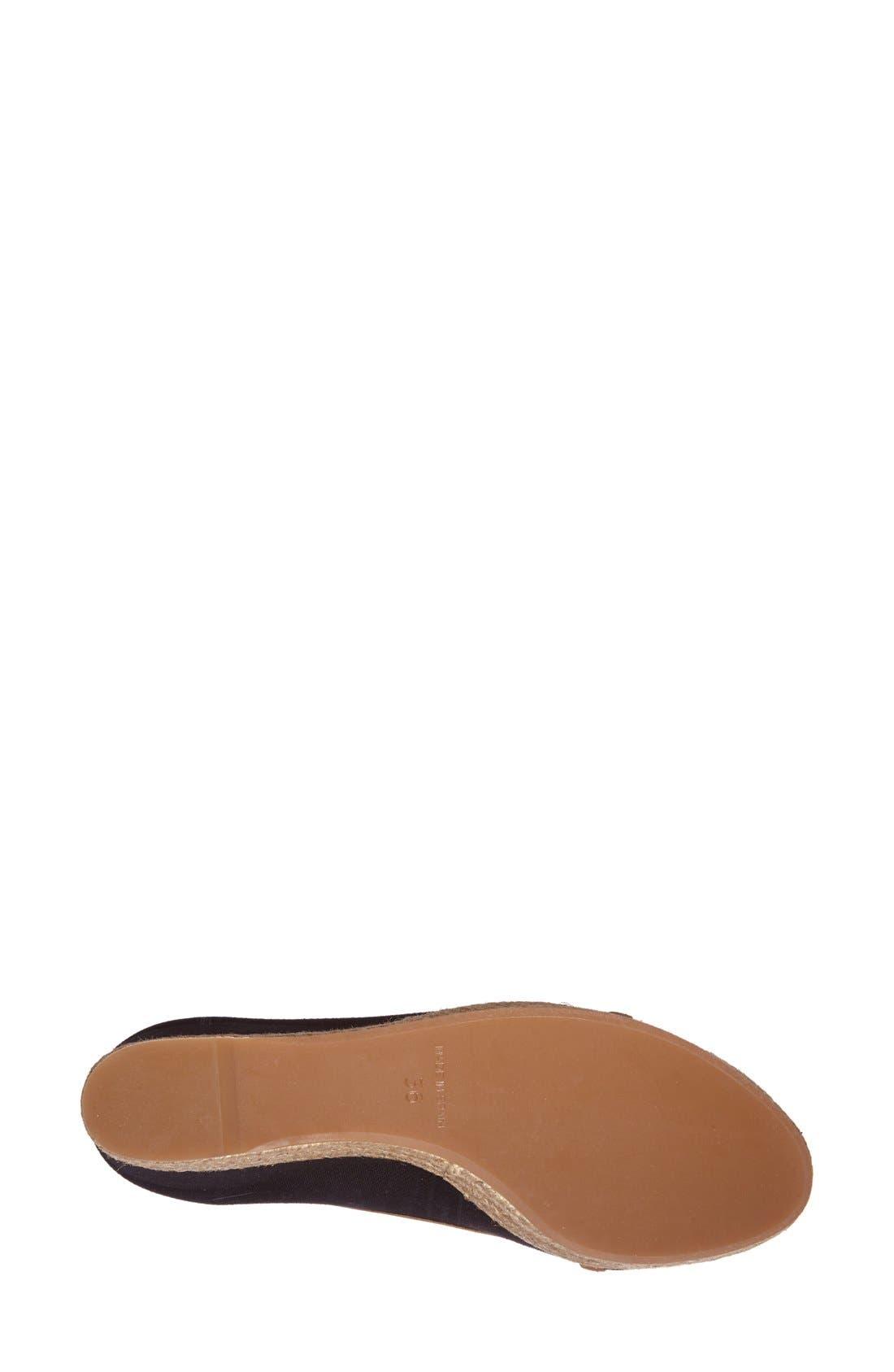 TORY BURCH,                             'Majorca' Wedge Sandal,                             Alternate thumbnail 5, color,                             013