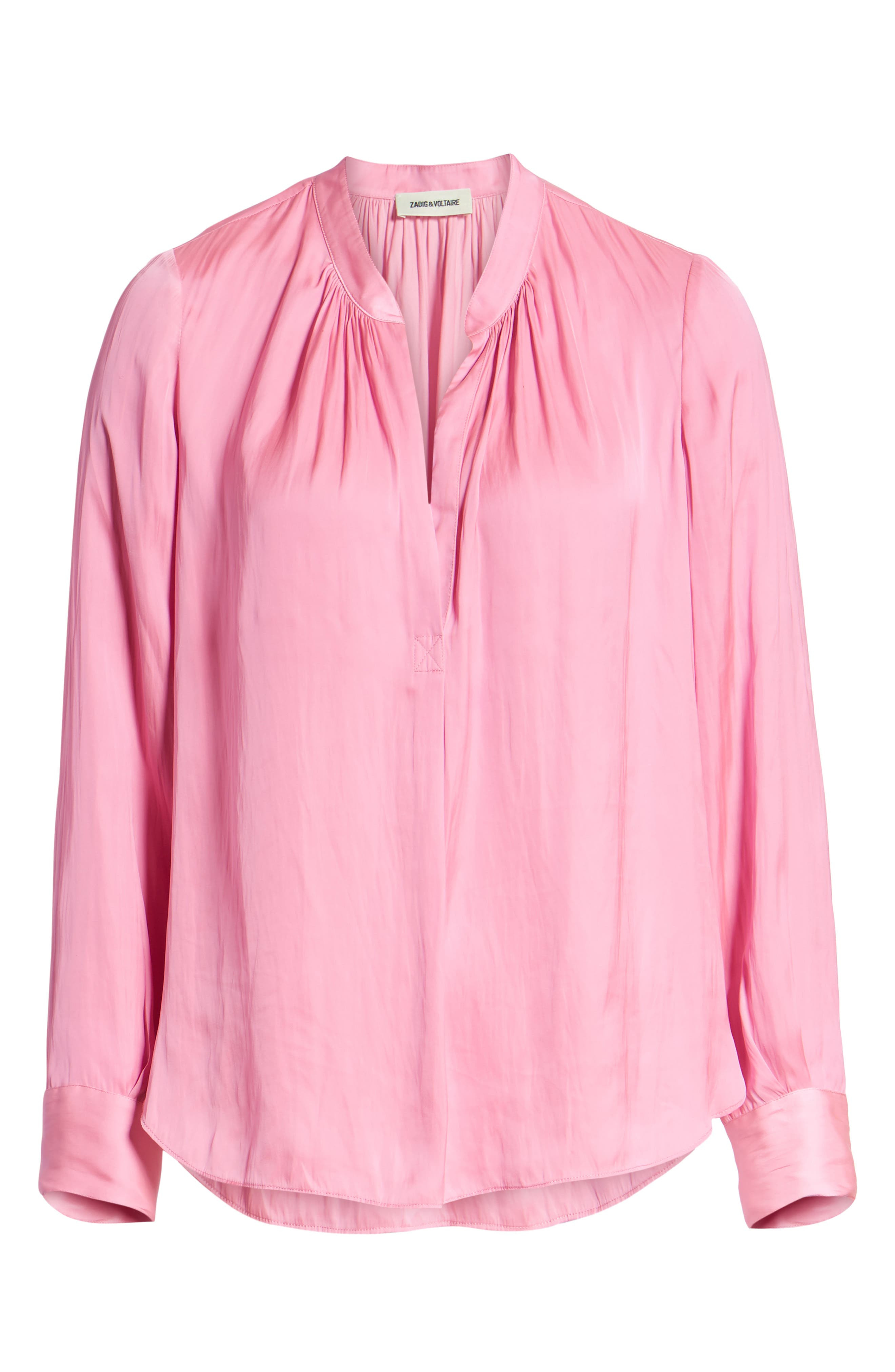 Zadig & Volaire Tink Blouse,                             Alternate thumbnail 6, color,                             688