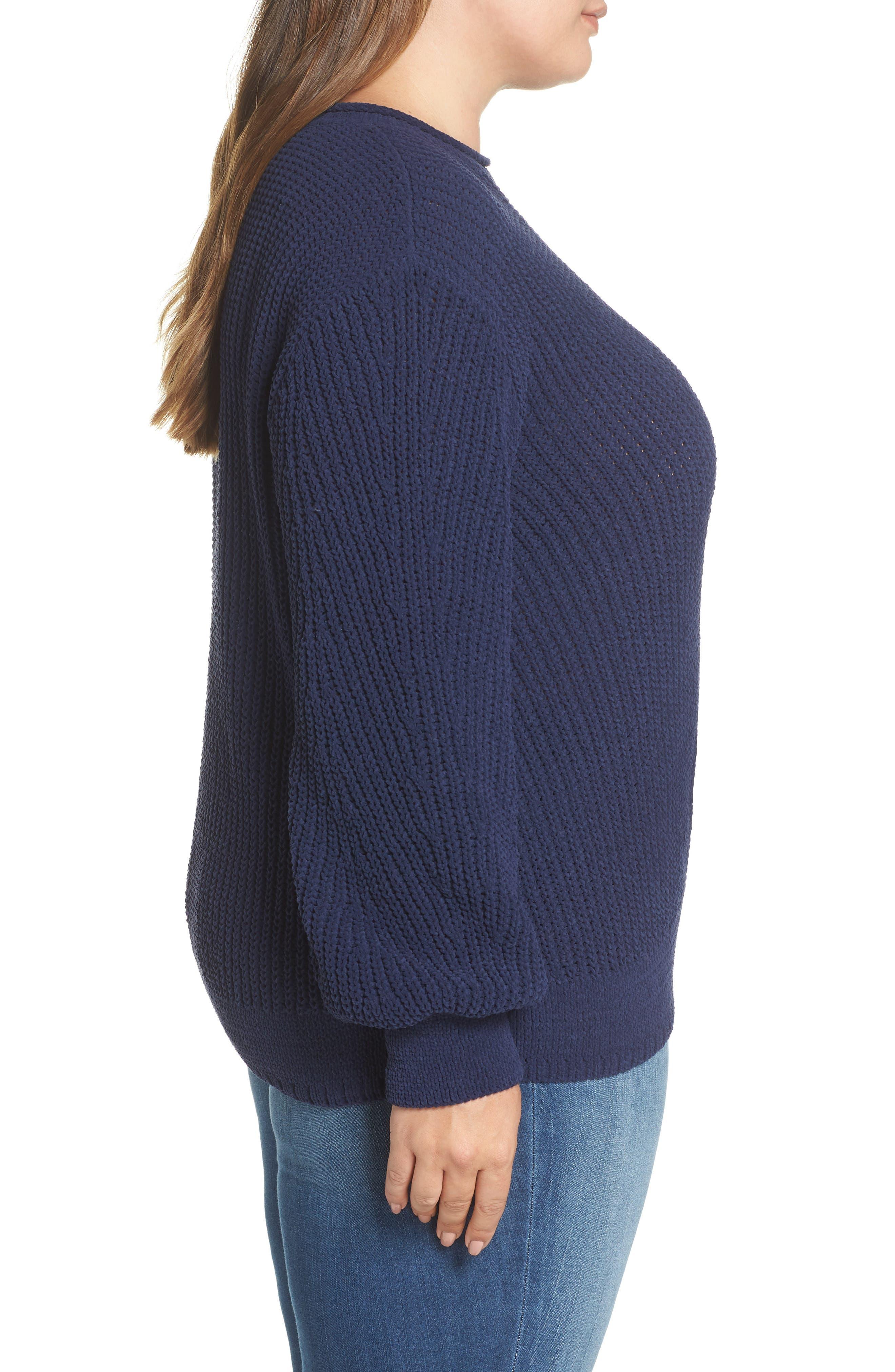 CASLON<SUP>®</SUP>,                             Chenille Crewneck Sweater,                             Alternate thumbnail 3, color,                             401