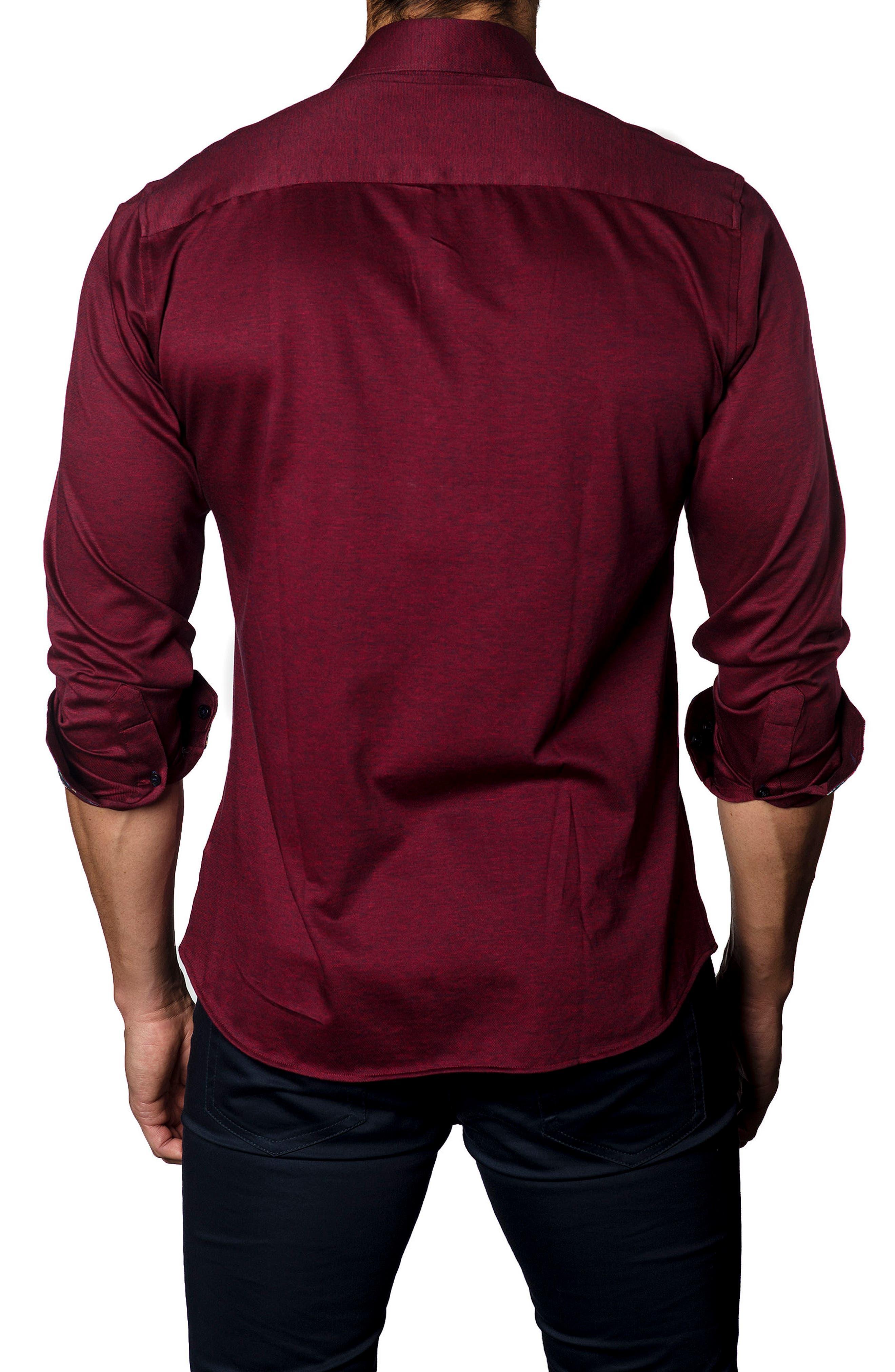 Trim Fit Jewel Tone Sport Shirt,                             Alternate thumbnail 2, color,                             601