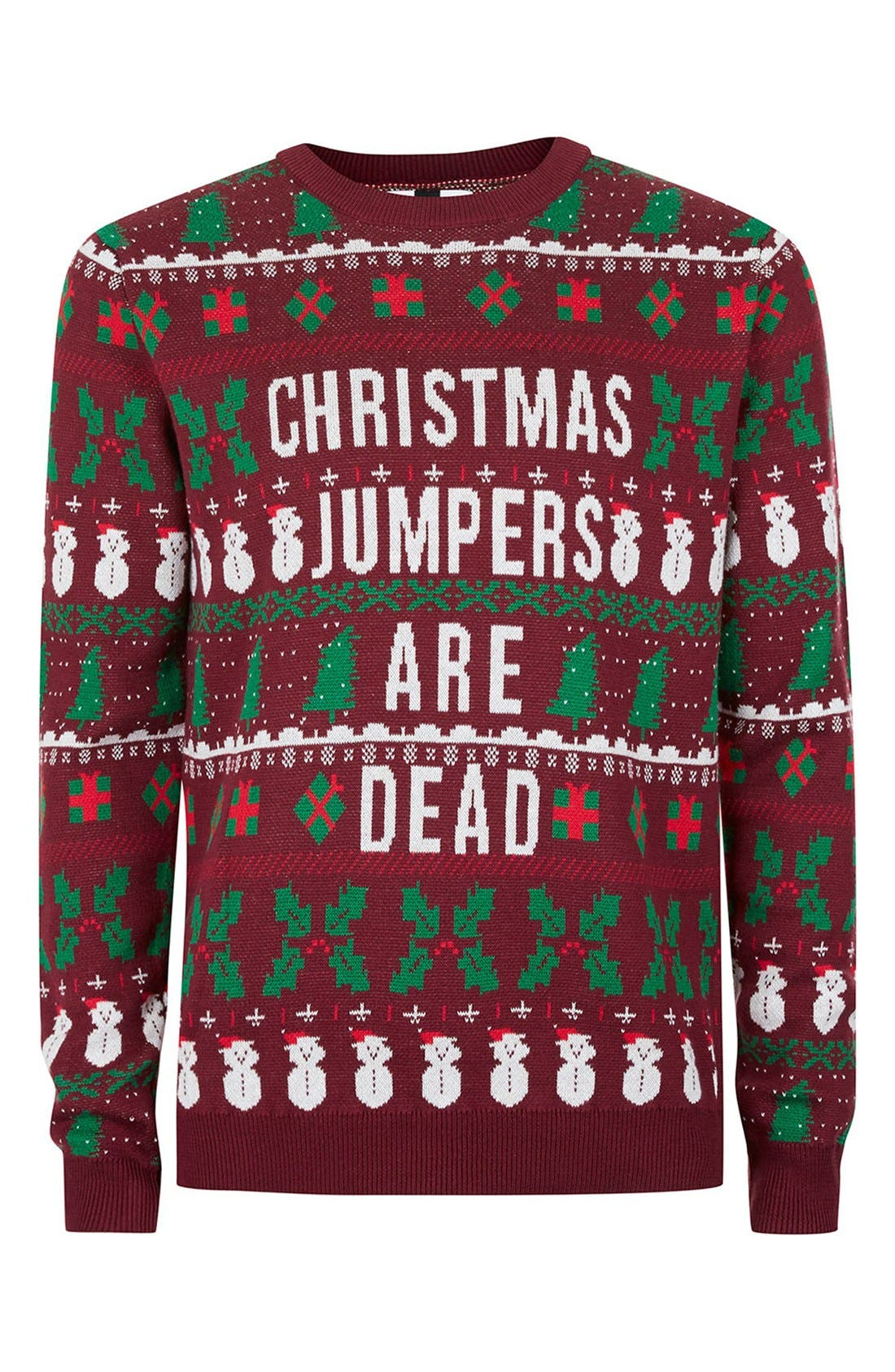 Christmas Jumpers Are Dead Sweater,                             Alternate thumbnail 4, color,                             930