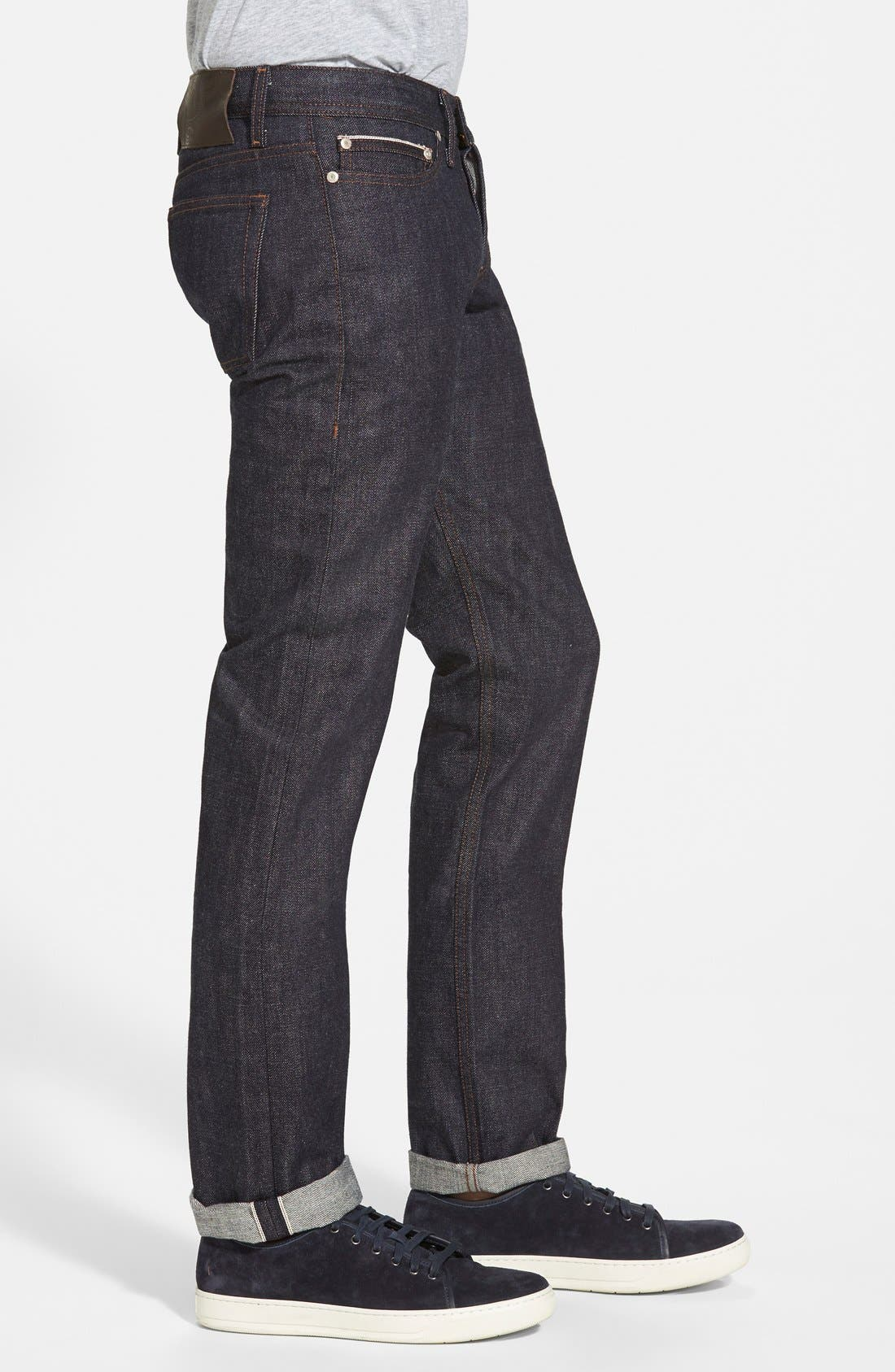 'Weird Guy' Shrink To Fit Slim Fit Jeans,                             Alternate thumbnail 4, color,                             400
