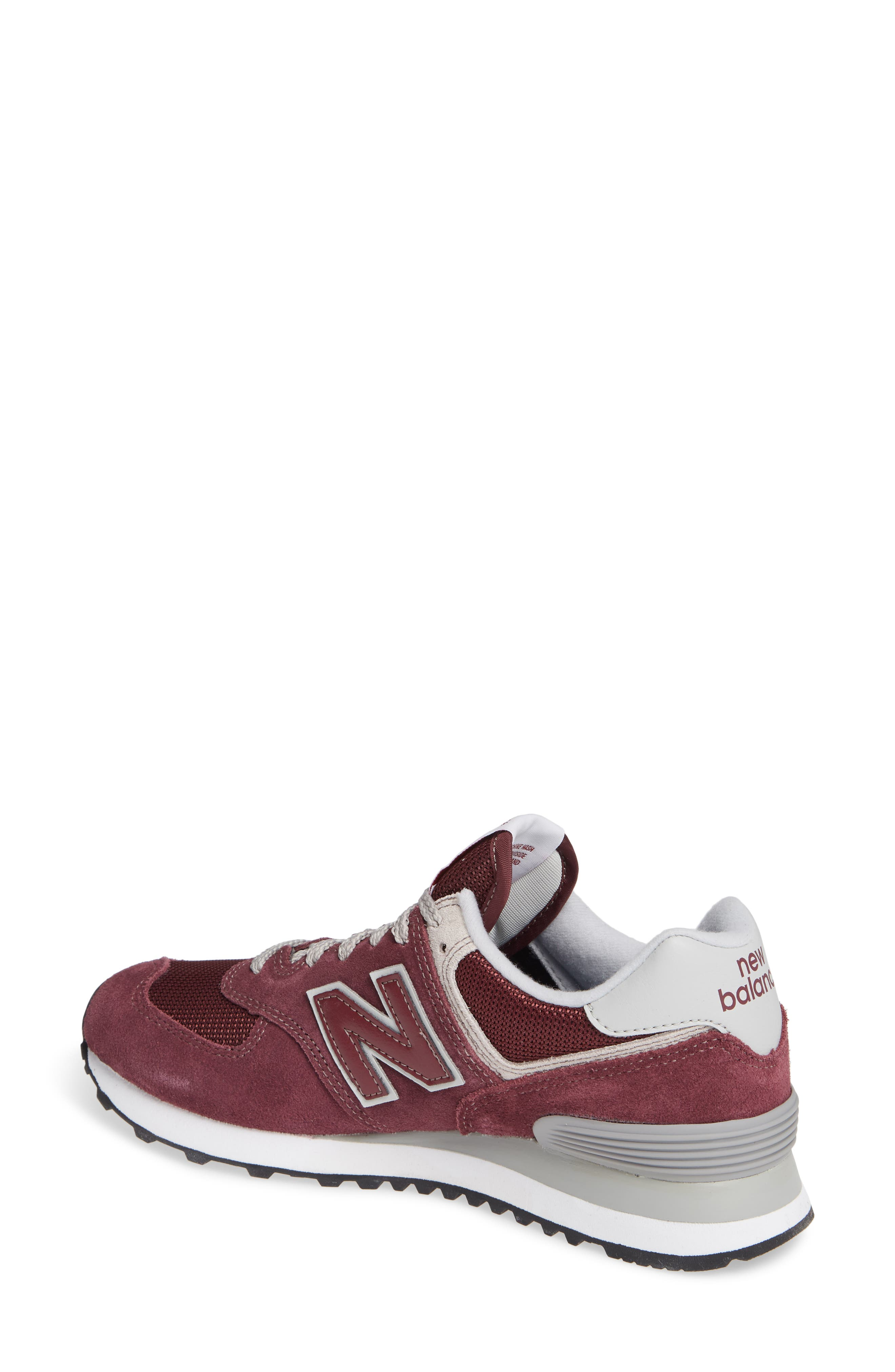 '574' Sneaker,                             Alternate thumbnail 2, color,                             BURGUNDY