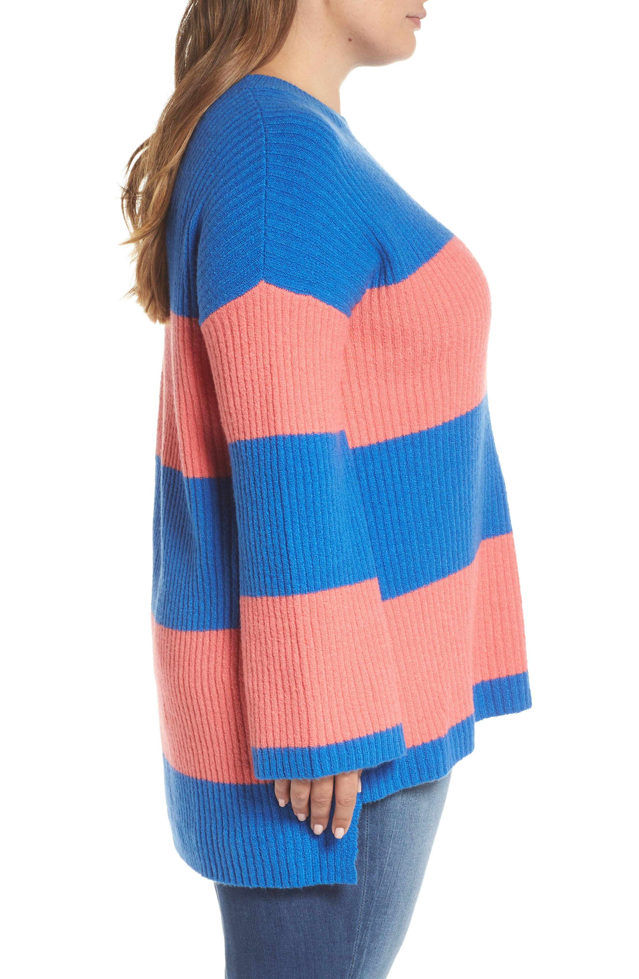 Rugby Stripe Sweater,                             Alternate thumbnail 10, color,                             BLUE BOAT COURTNEY STRIPE