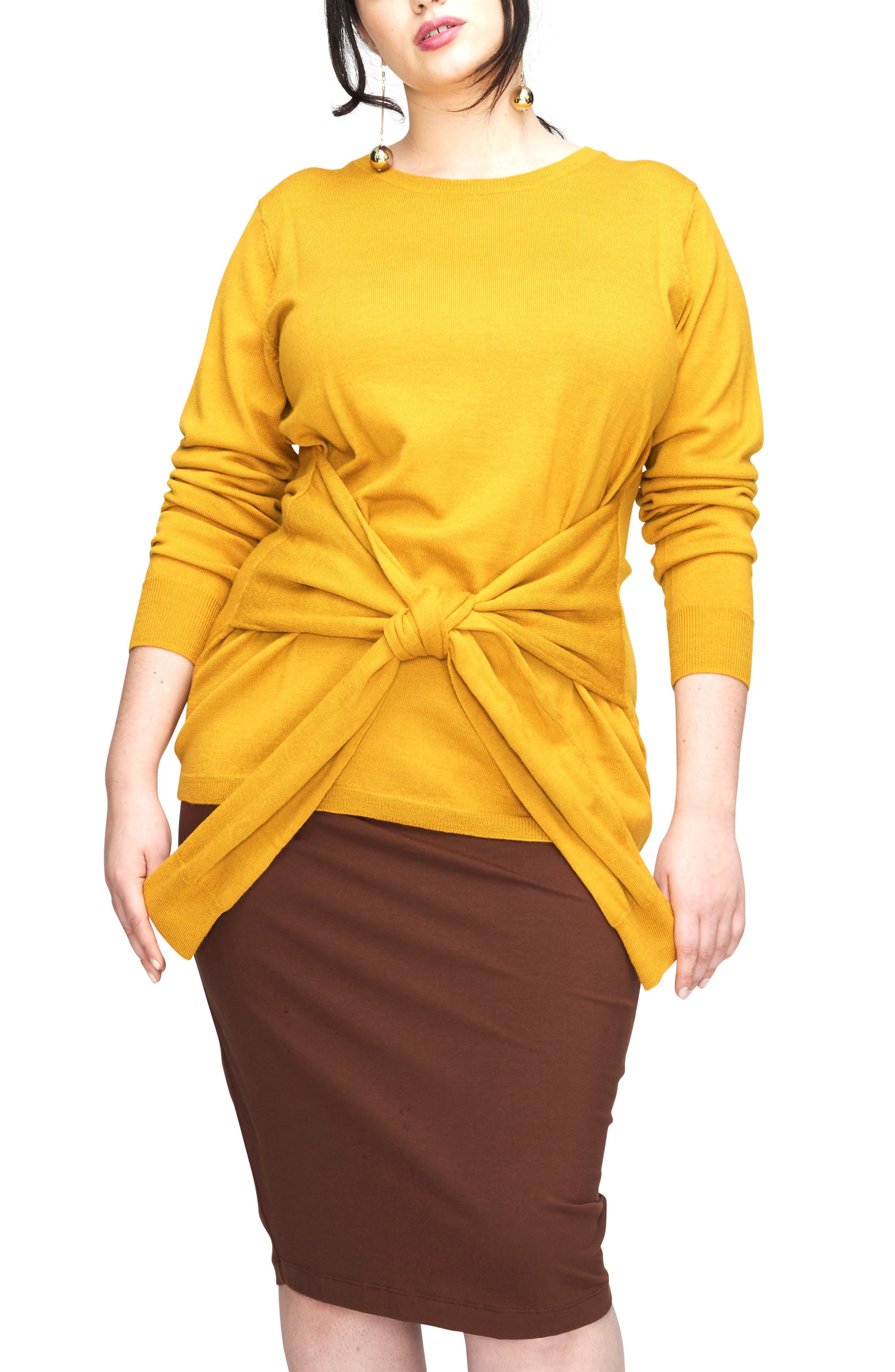Mae Tie Front Sweater,                             Main thumbnail 2, color,