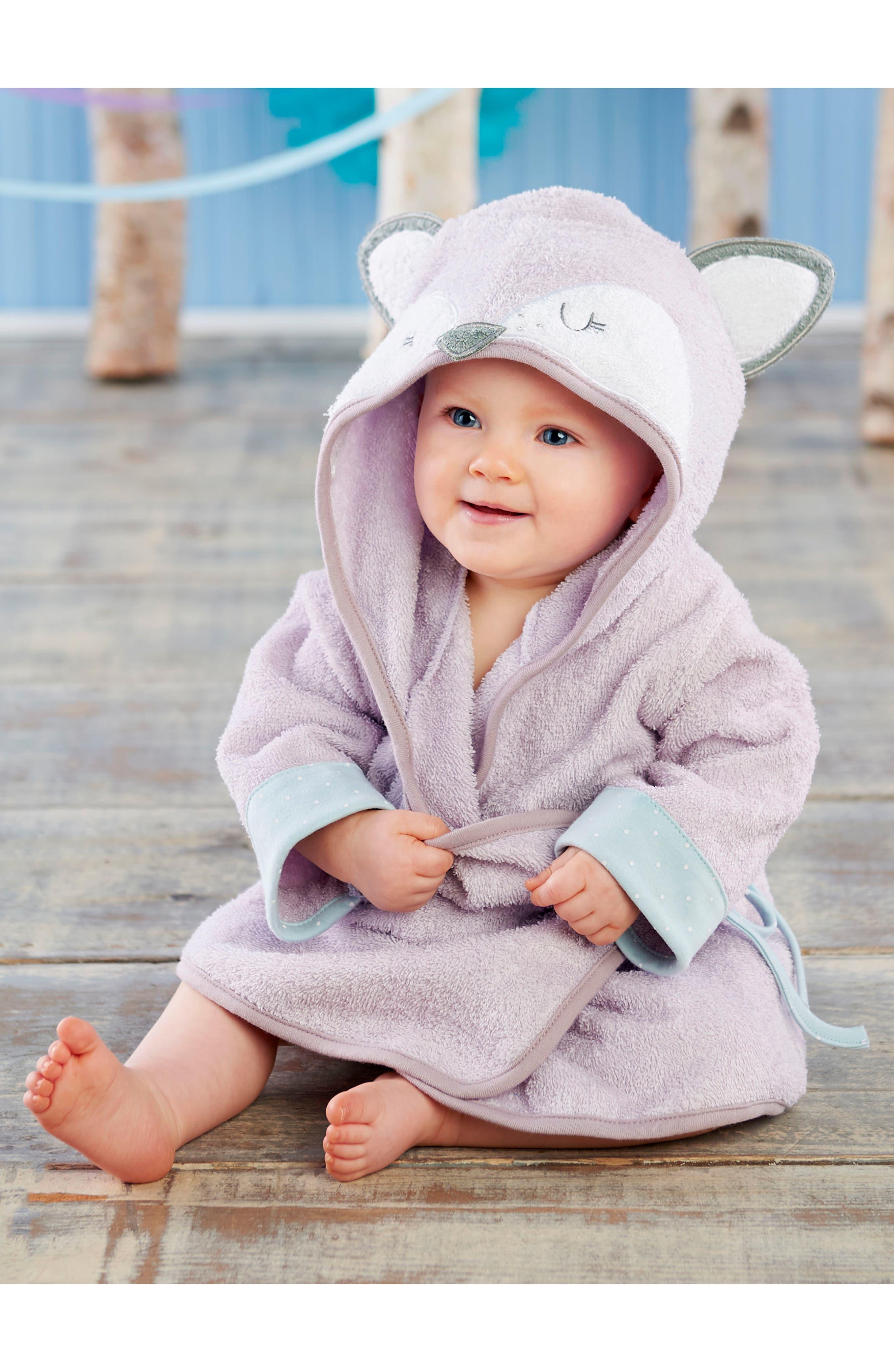 Forest Friends Fox Plush Robe, Fuzzy Socks, Stuffed Animal & Rattle Set,                             Alternate thumbnail 2, color,                             540