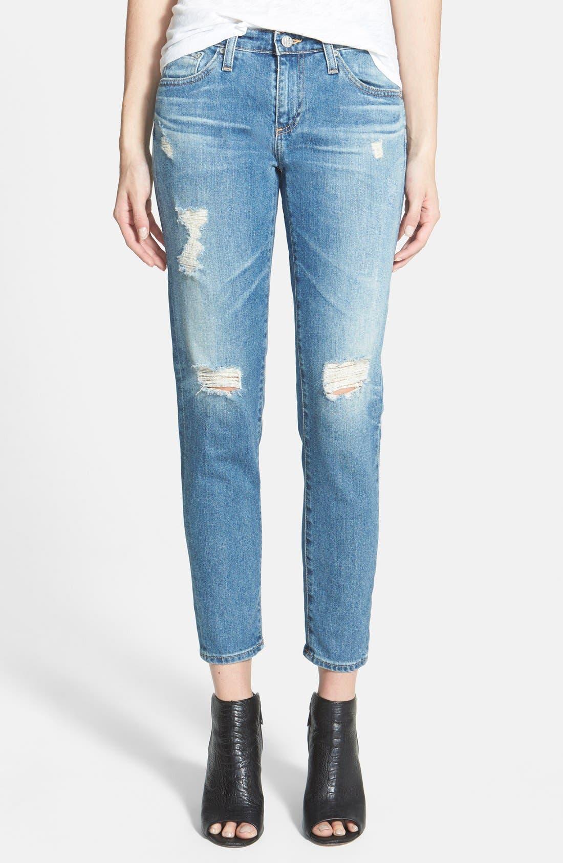 'Stilt' Cigarette Leg Jeans,                             Main thumbnail 1, color,                             427