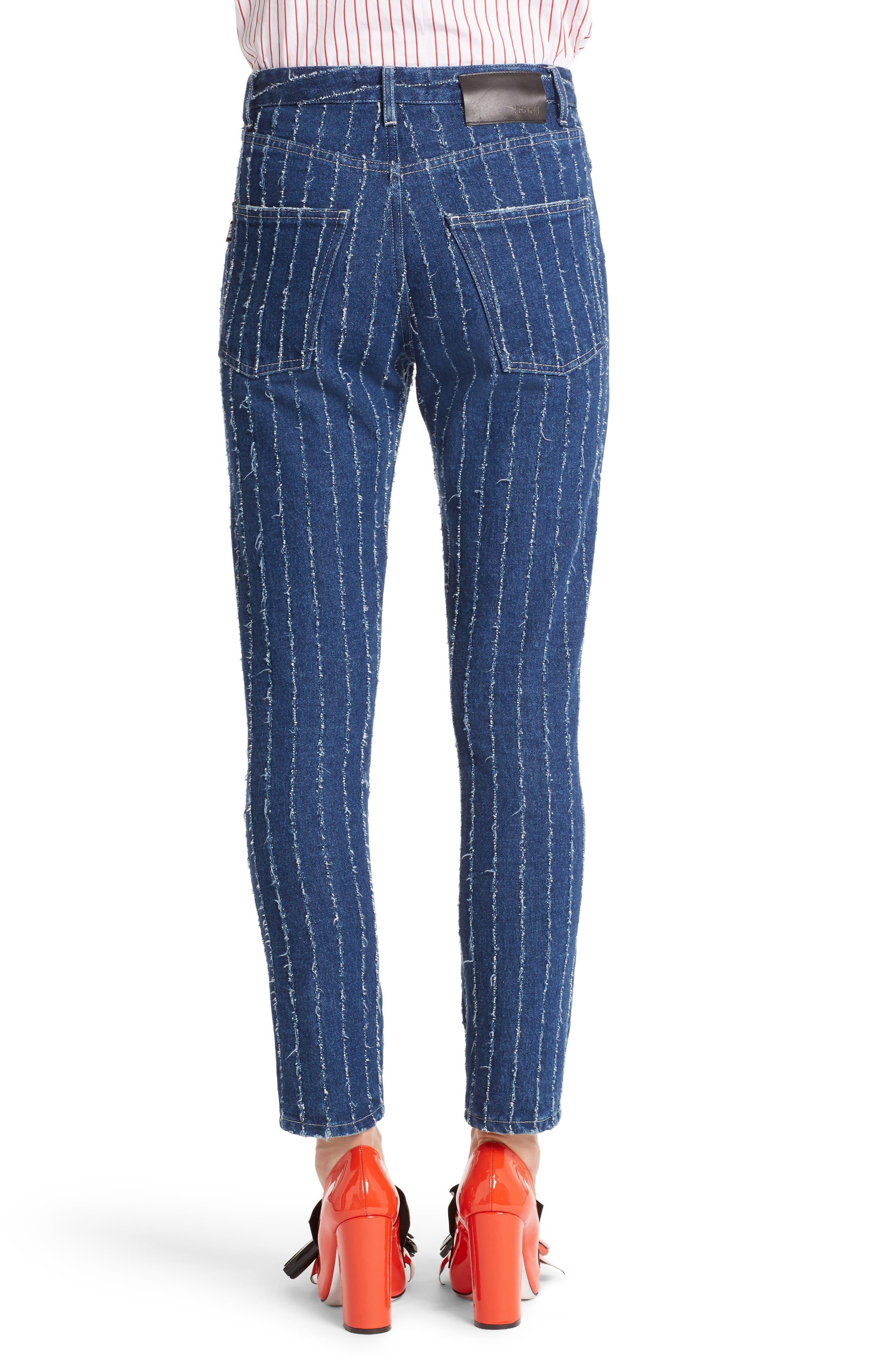 Stripe High Waist Jeans,                             Alternate thumbnail 2, color,                             400