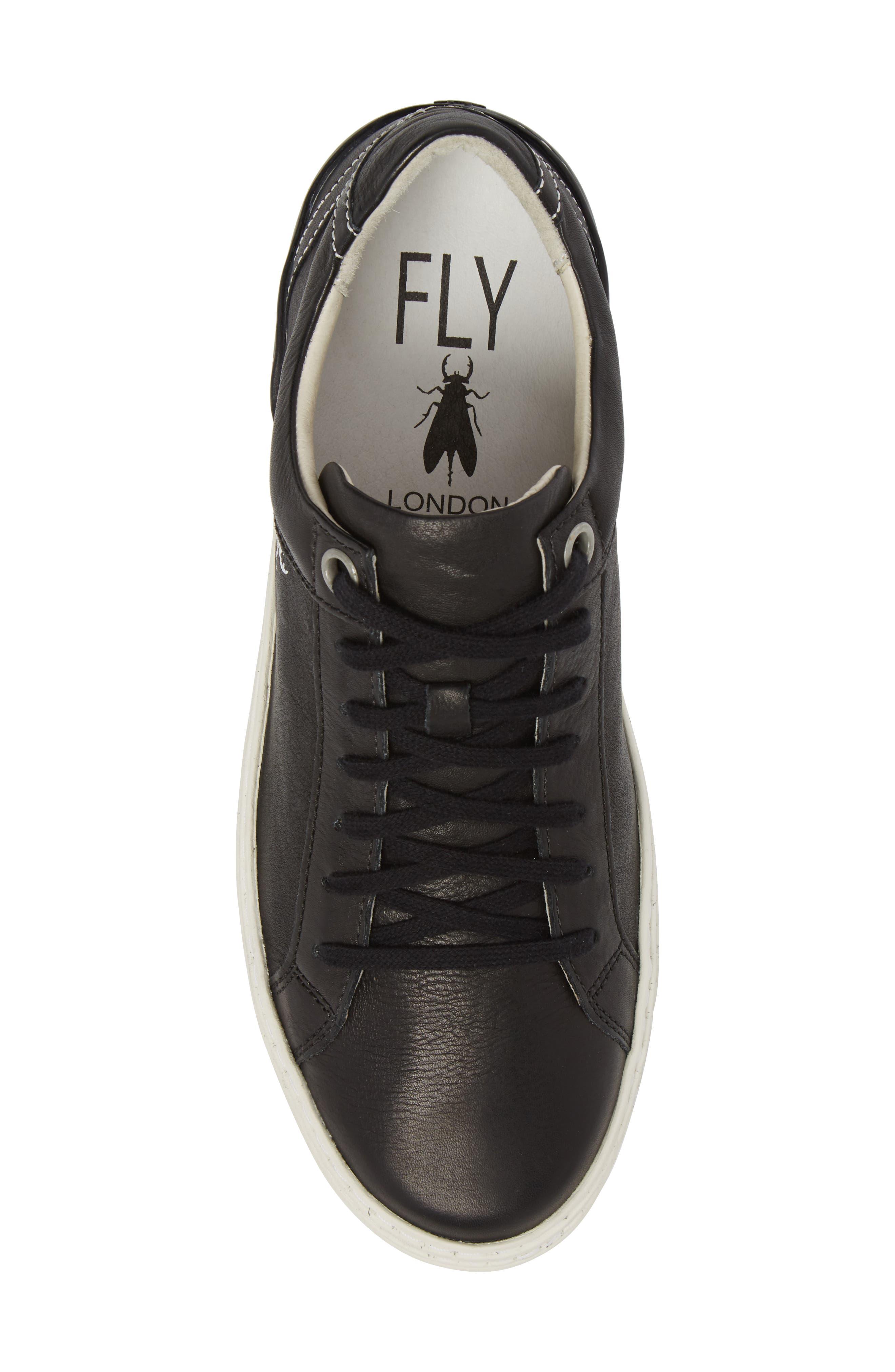 Sene Low Top Sneaker,                             Alternate thumbnail 5, color,                             BLACK LEATHER