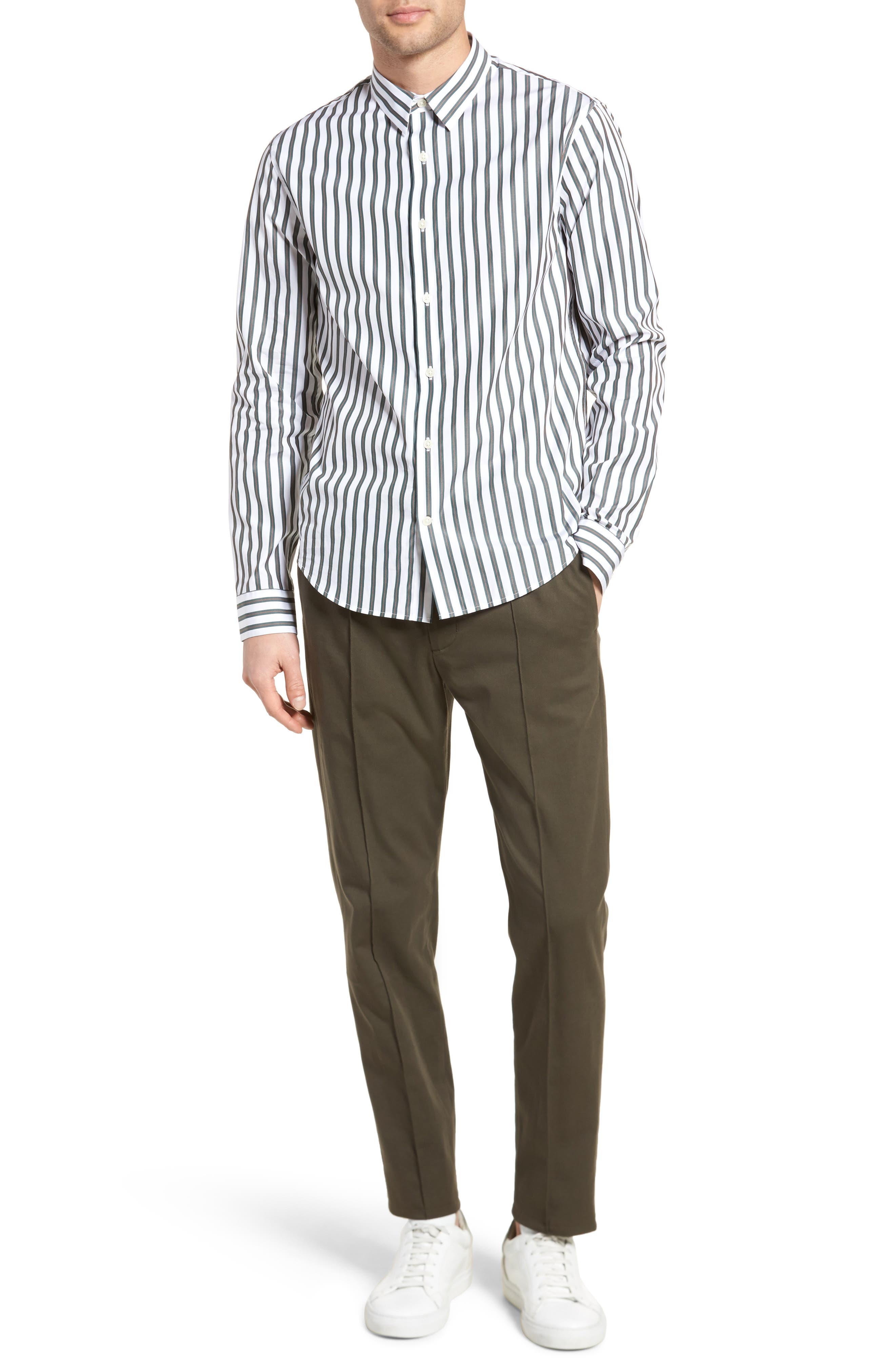 Stripe Sport Shirt,                             Alternate thumbnail 7, color,                             100