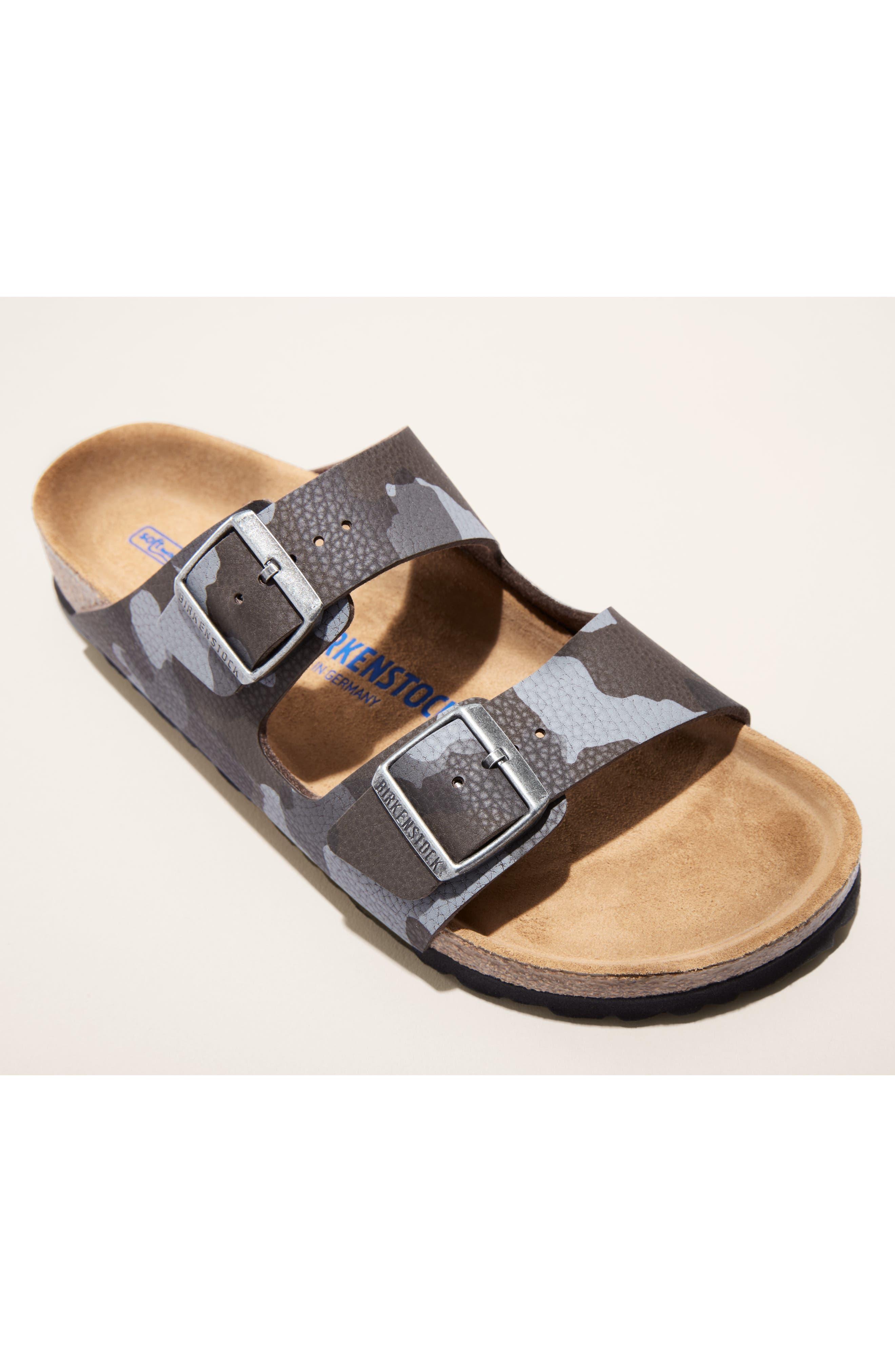 Arizona Soft Slide Sandal,                             Alternate thumbnail 7, color,                             DESERT SOIL CAMO BROWN