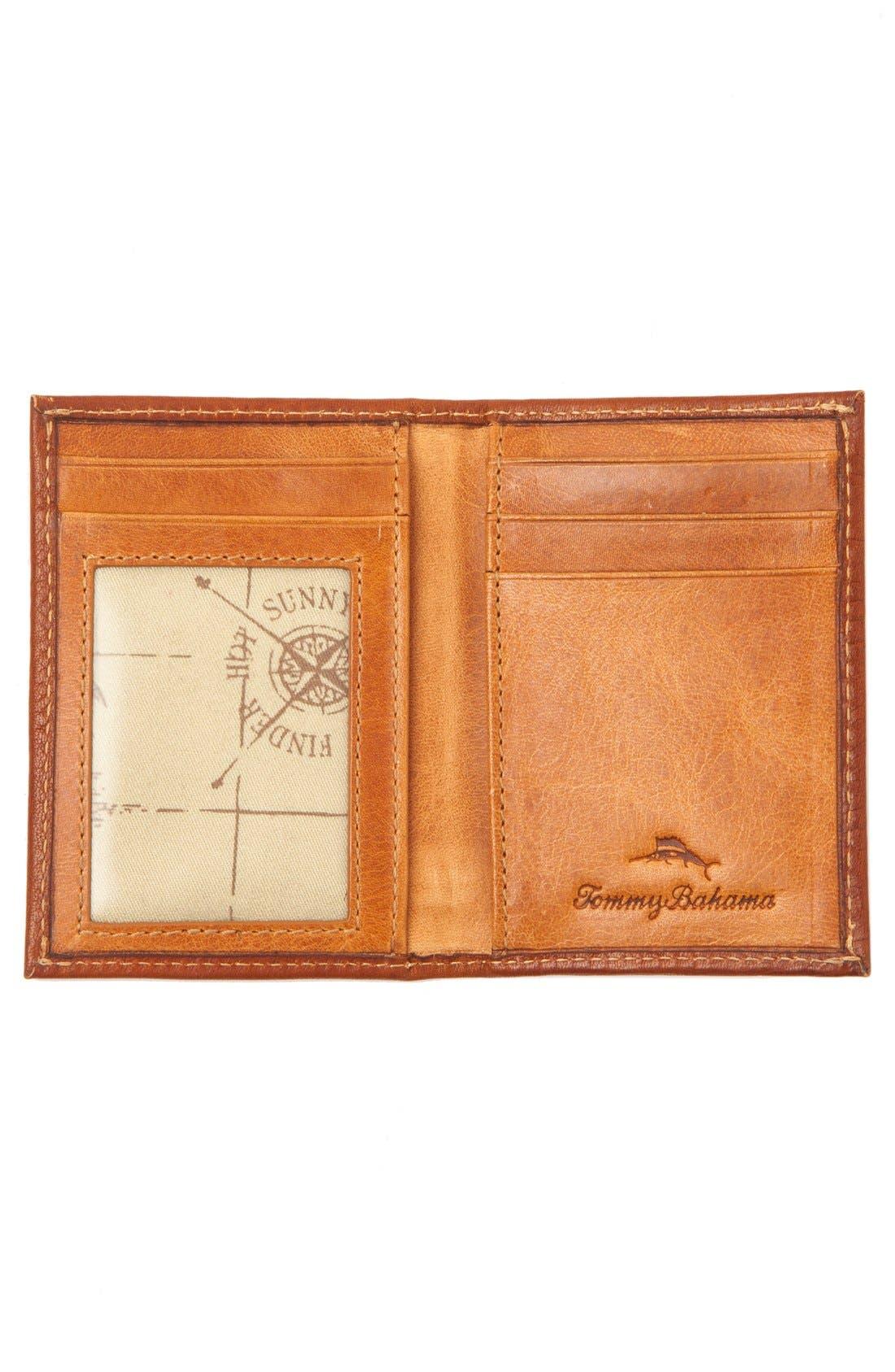 Leather Money Clip Card Case,                             Alternate thumbnail 3, color,                             200