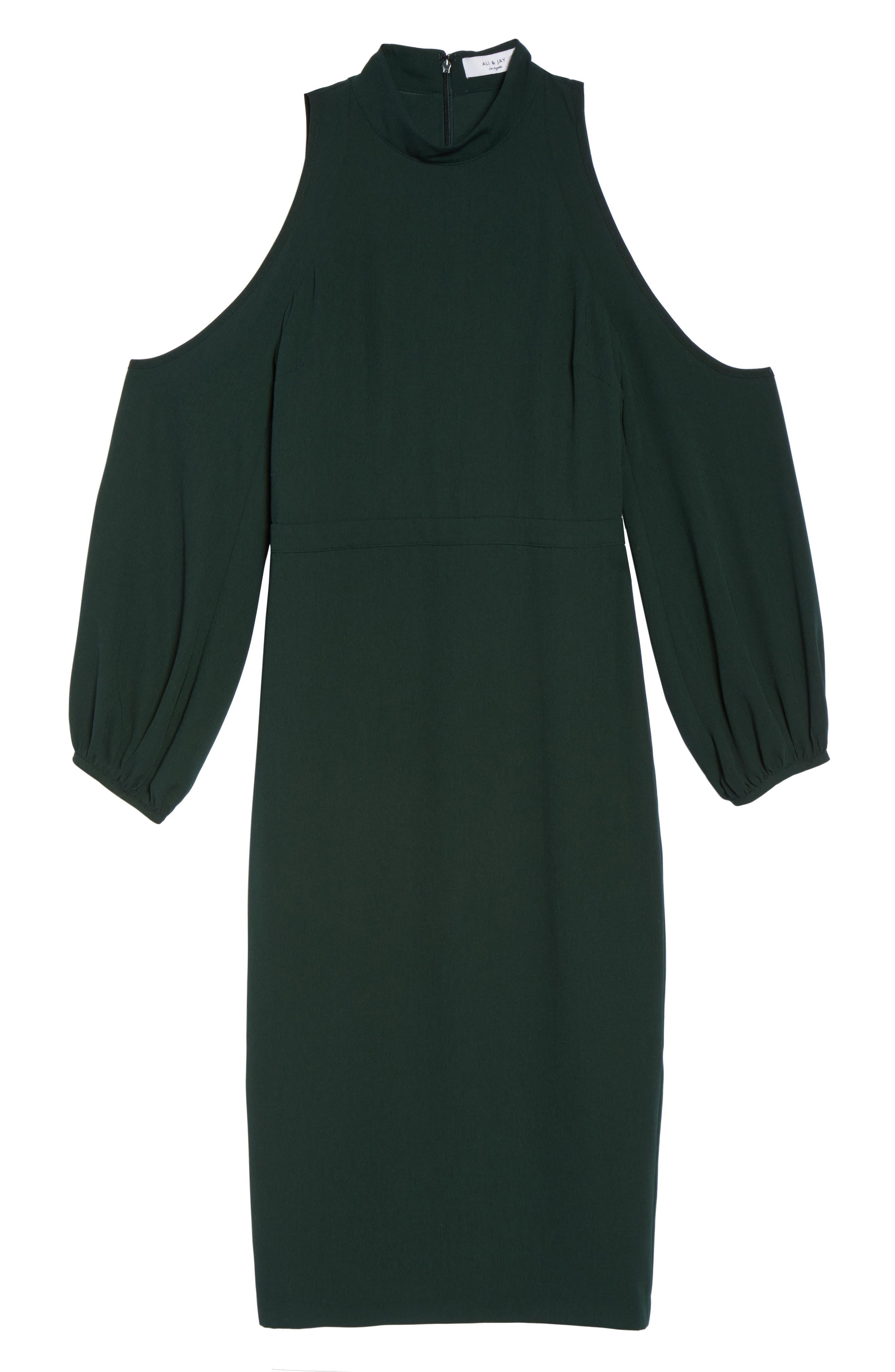 Power Shoulder Sheath Dress,                             Alternate thumbnail 12, color,