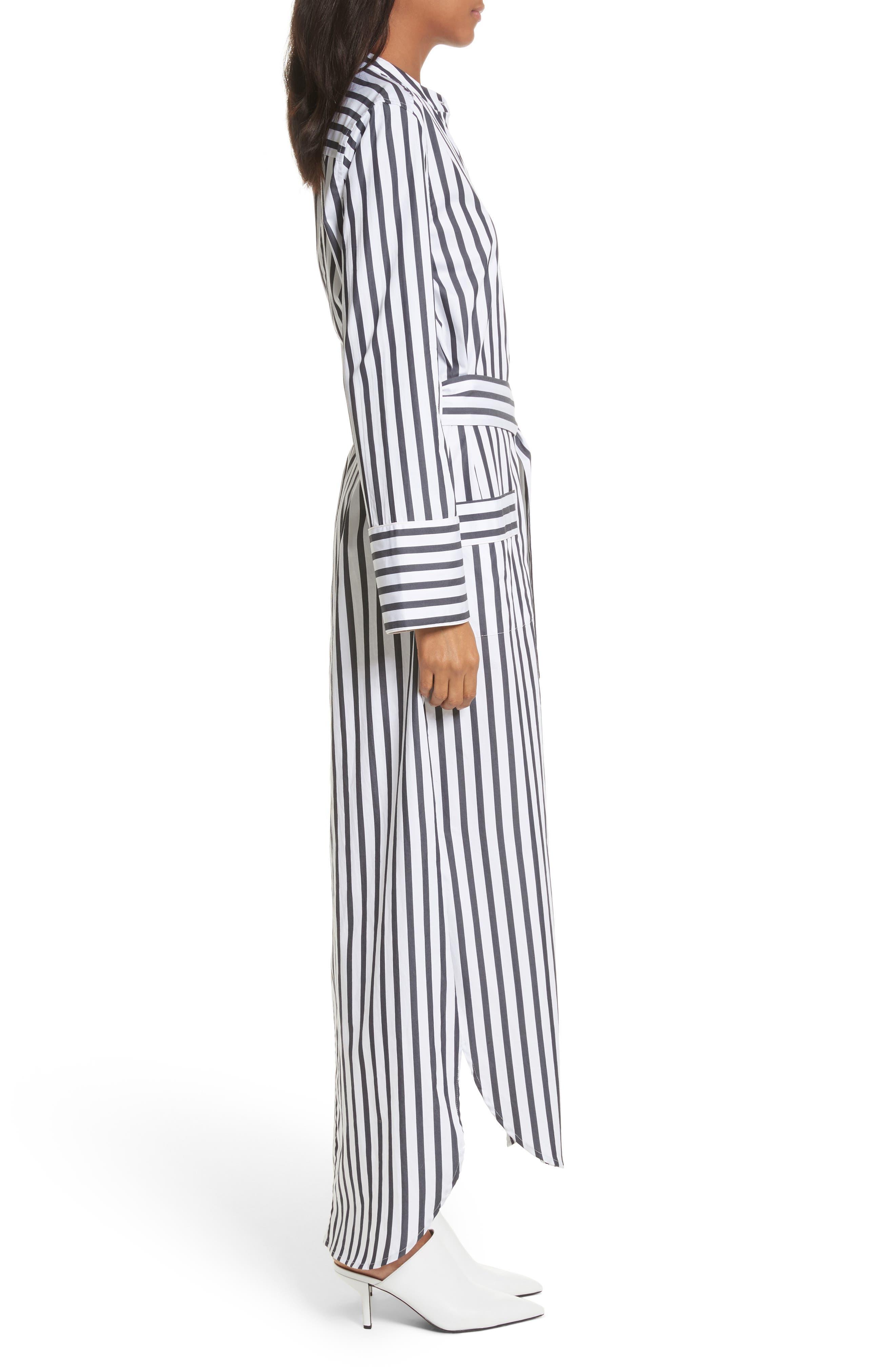 Britten Stripe Cotton Maxi Dress,                             Alternate thumbnail 3, color,                             125