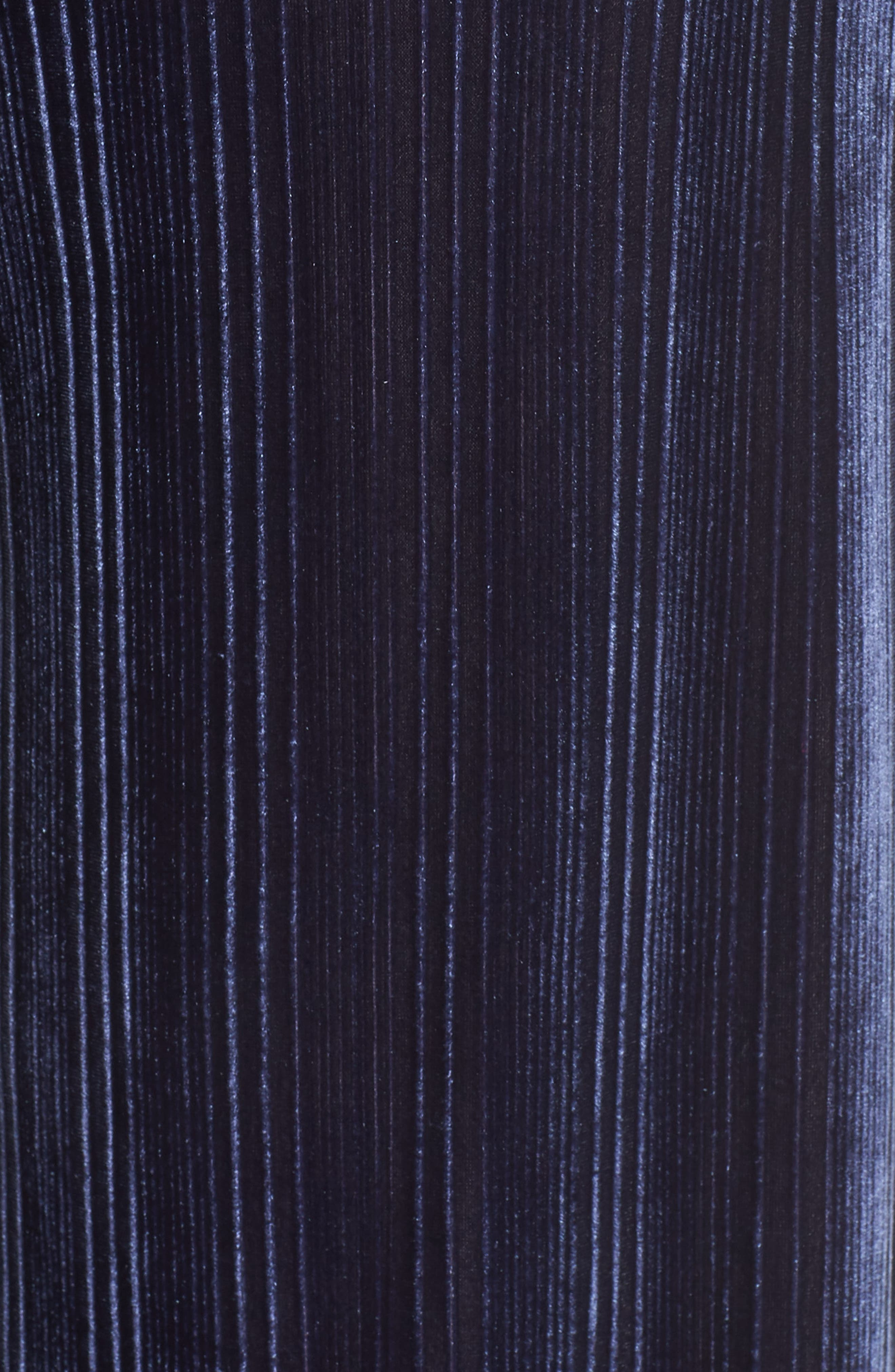 High Rise Velour Wide Leg Crop Pants,                             Alternate thumbnail 6, color,                             NAVY MARITIME