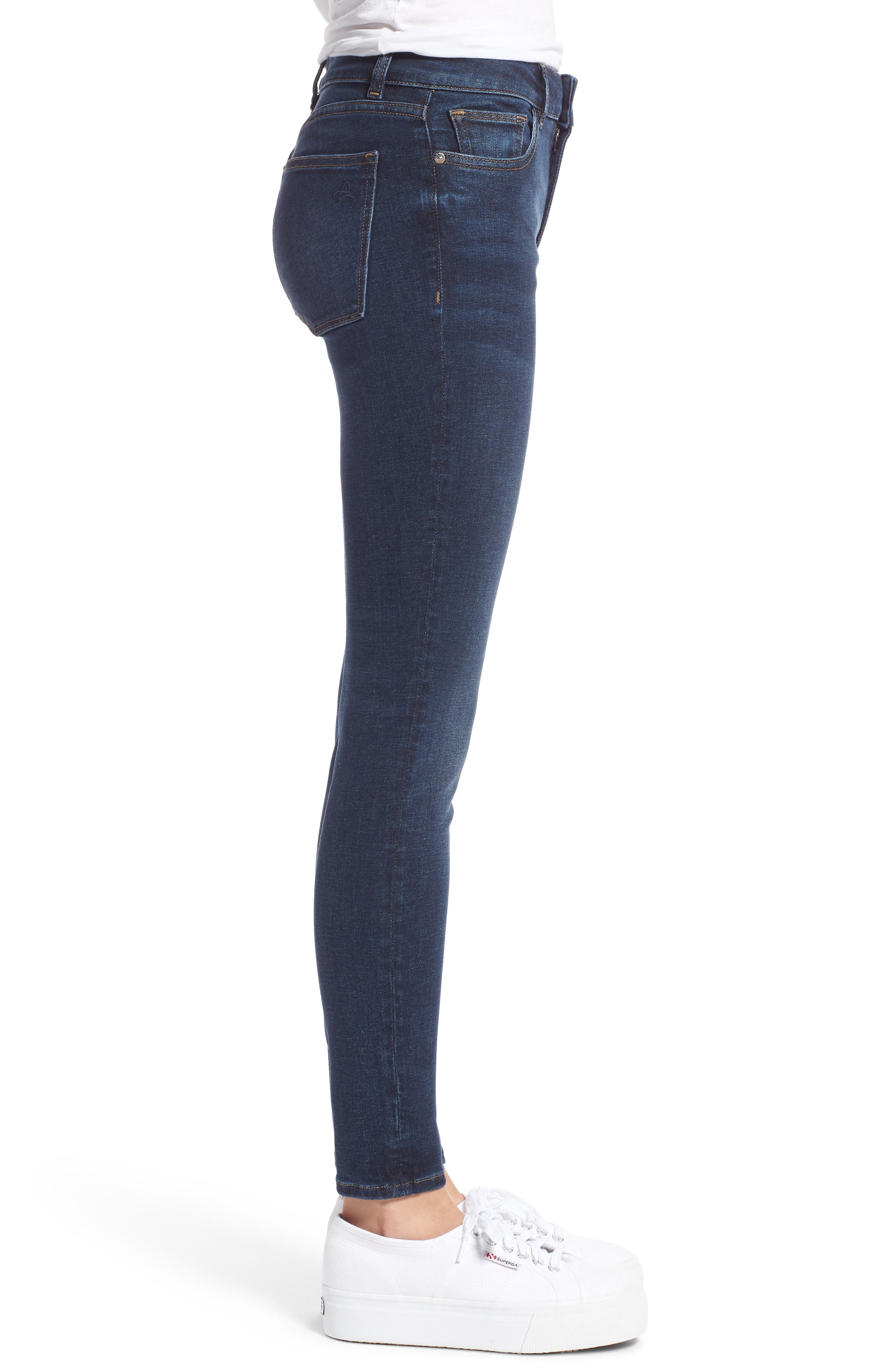 Florence Instasculpt Ankle Skinny Jeans,                             Alternate thumbnail 3, color,                             425