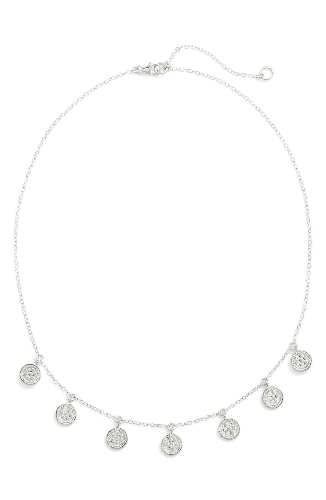 'Gili' Charm Necklace,                             Alternate thumbnail 6, color,                             SILVER