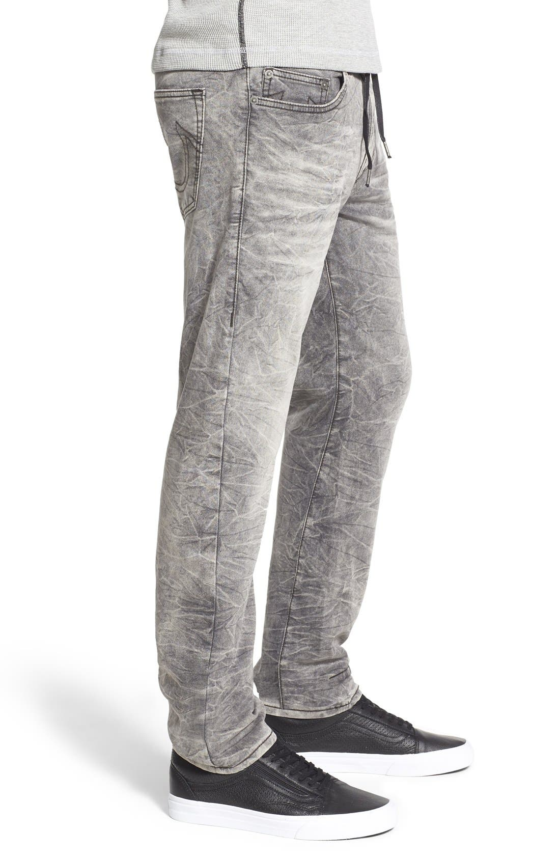 'Dean' Tapered Fit Denim Active Jogger Pants,                             Alternate thumbnail 5, color,