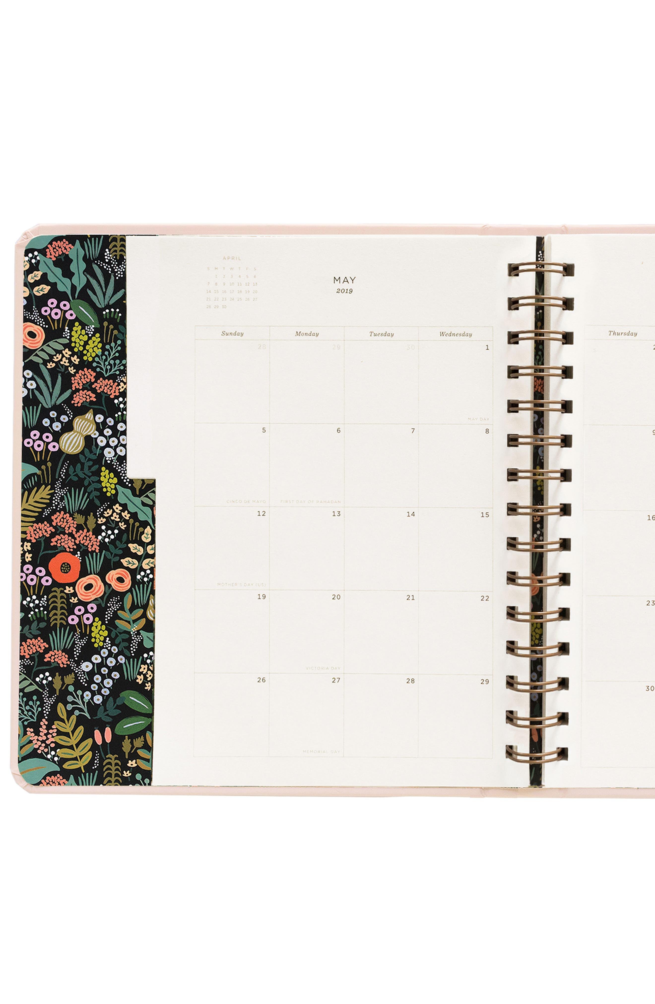 2019 Bouquet 17-Month Planner,                             Alternate thumbnail 3, color,                             PINK