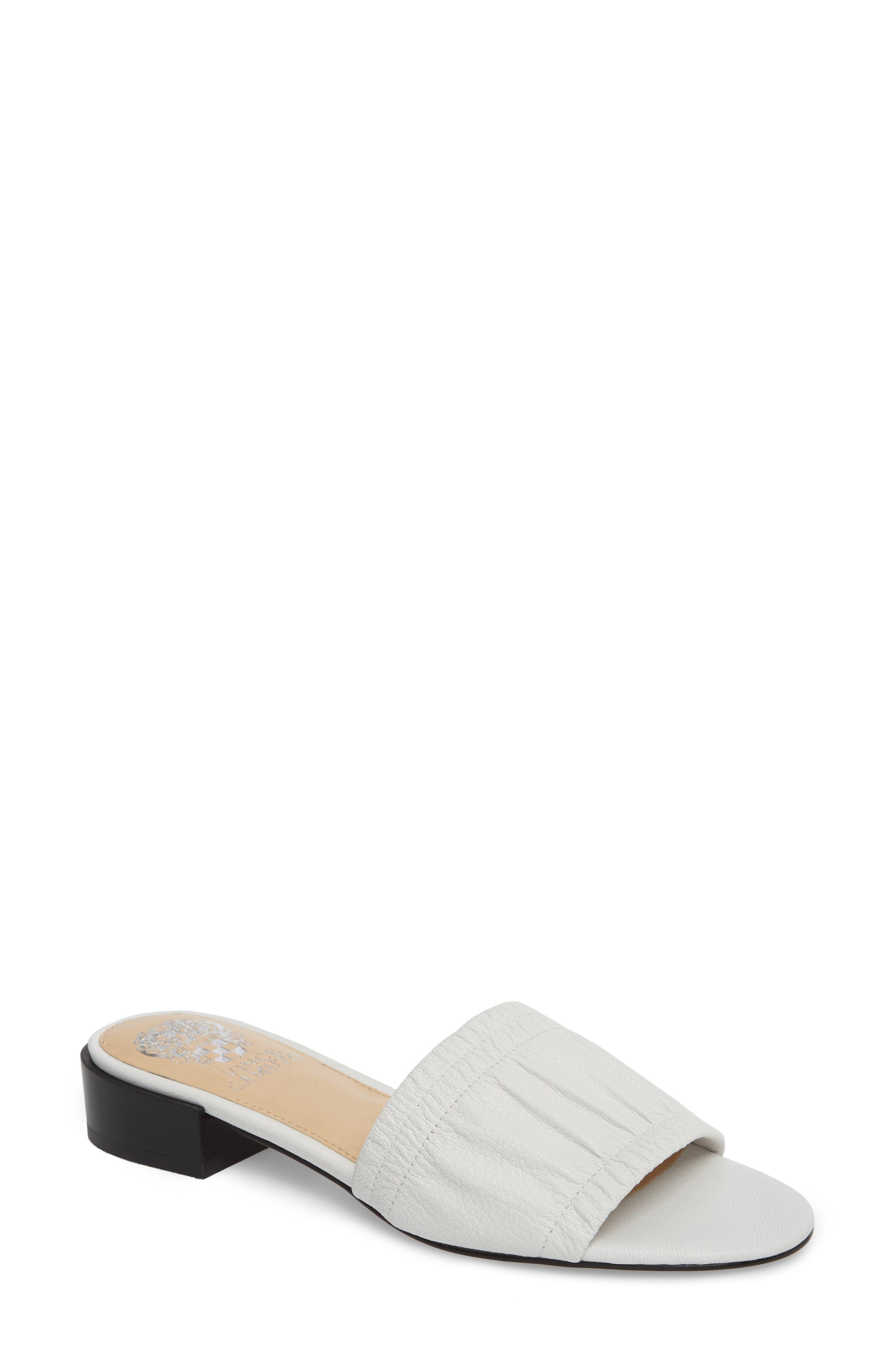 Nanita Pleated Slide Sandal,                             Main thumbnail 1, color,