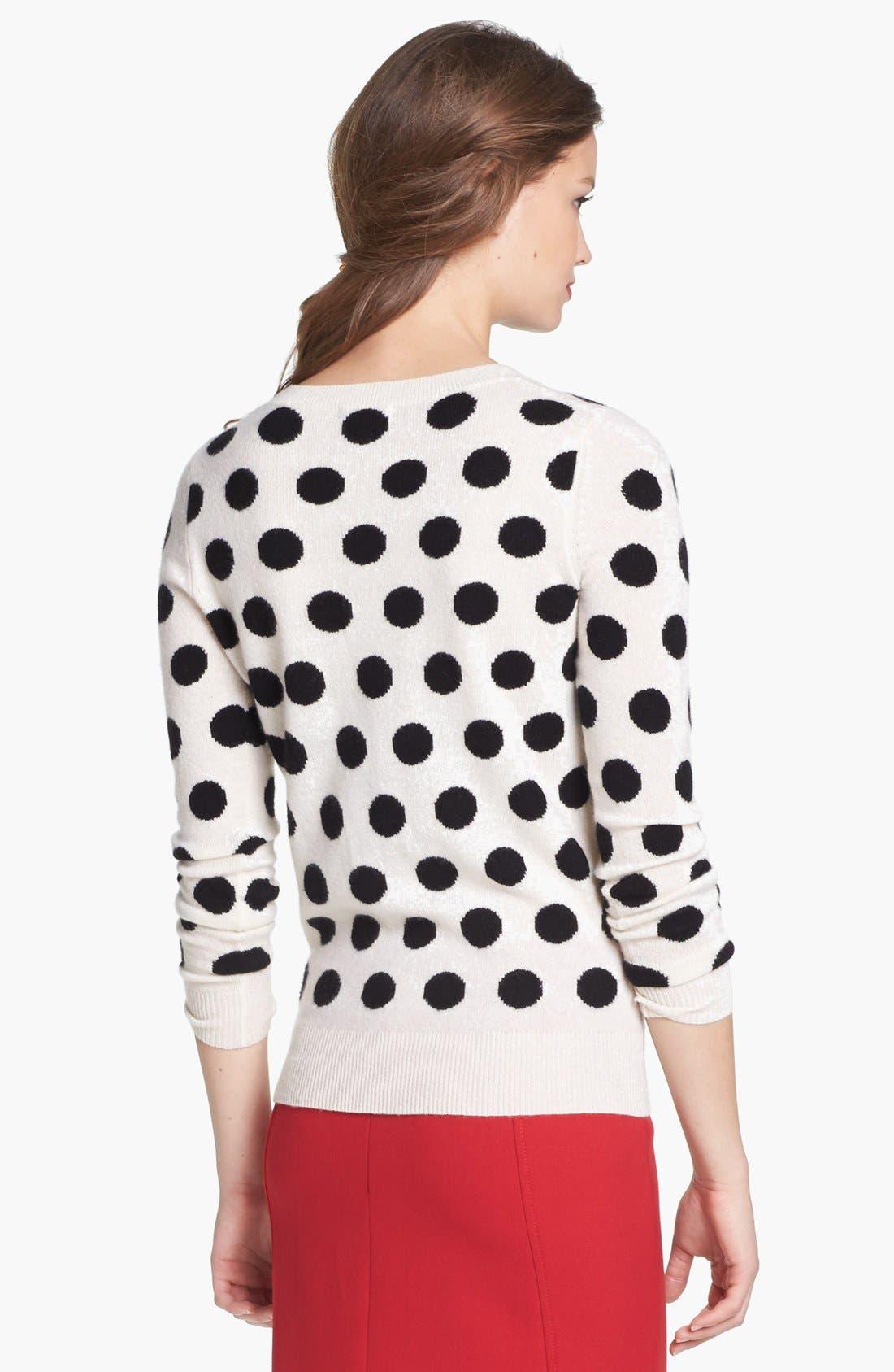 Cashmere Blend Crewneck Sweater,                             Alternate thumbnail 5, color,                             002