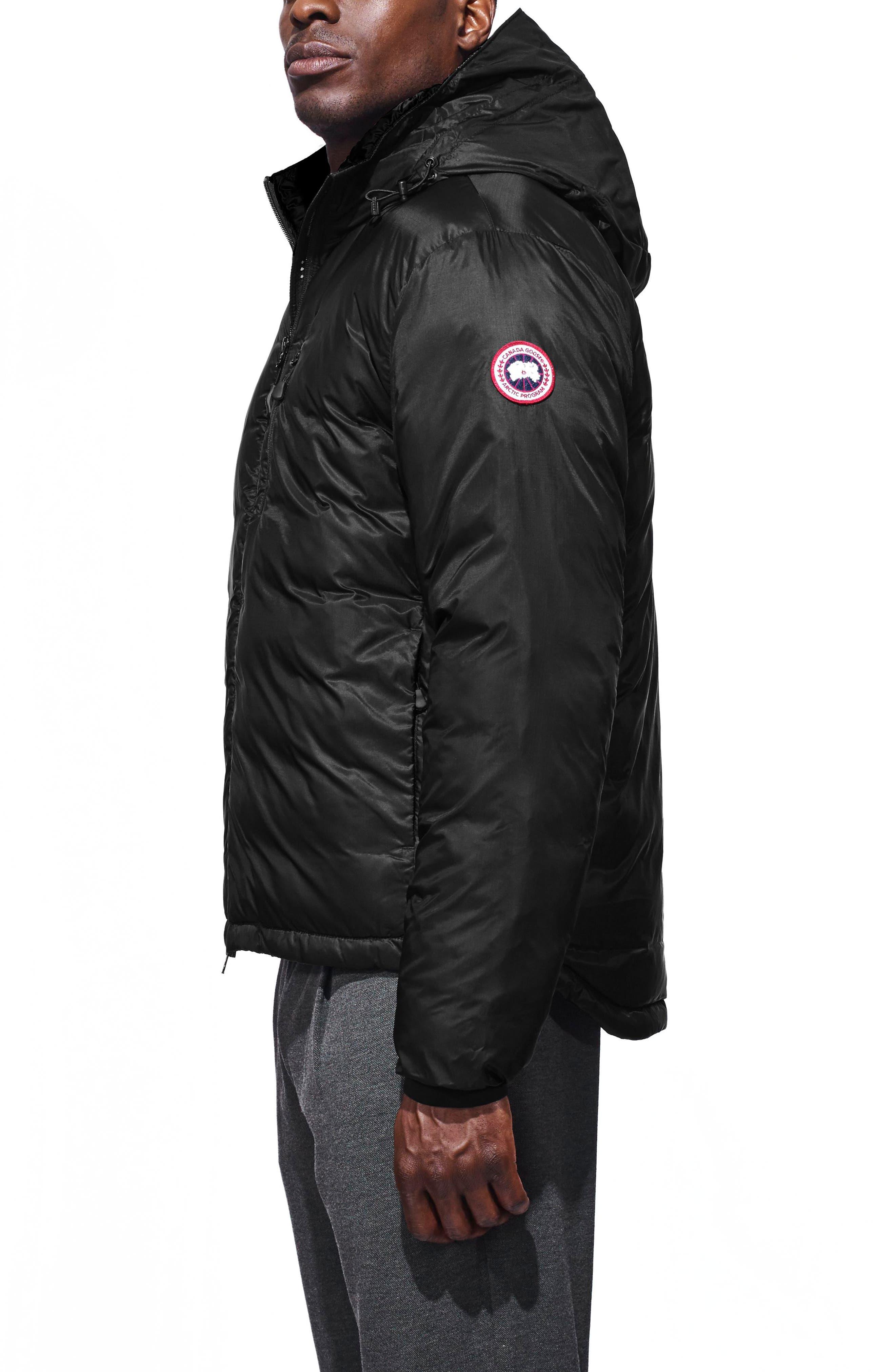 'Lodge' Slim Fit Packable Jacket,                             Alternate thumbnail 3, color,                             BLACK