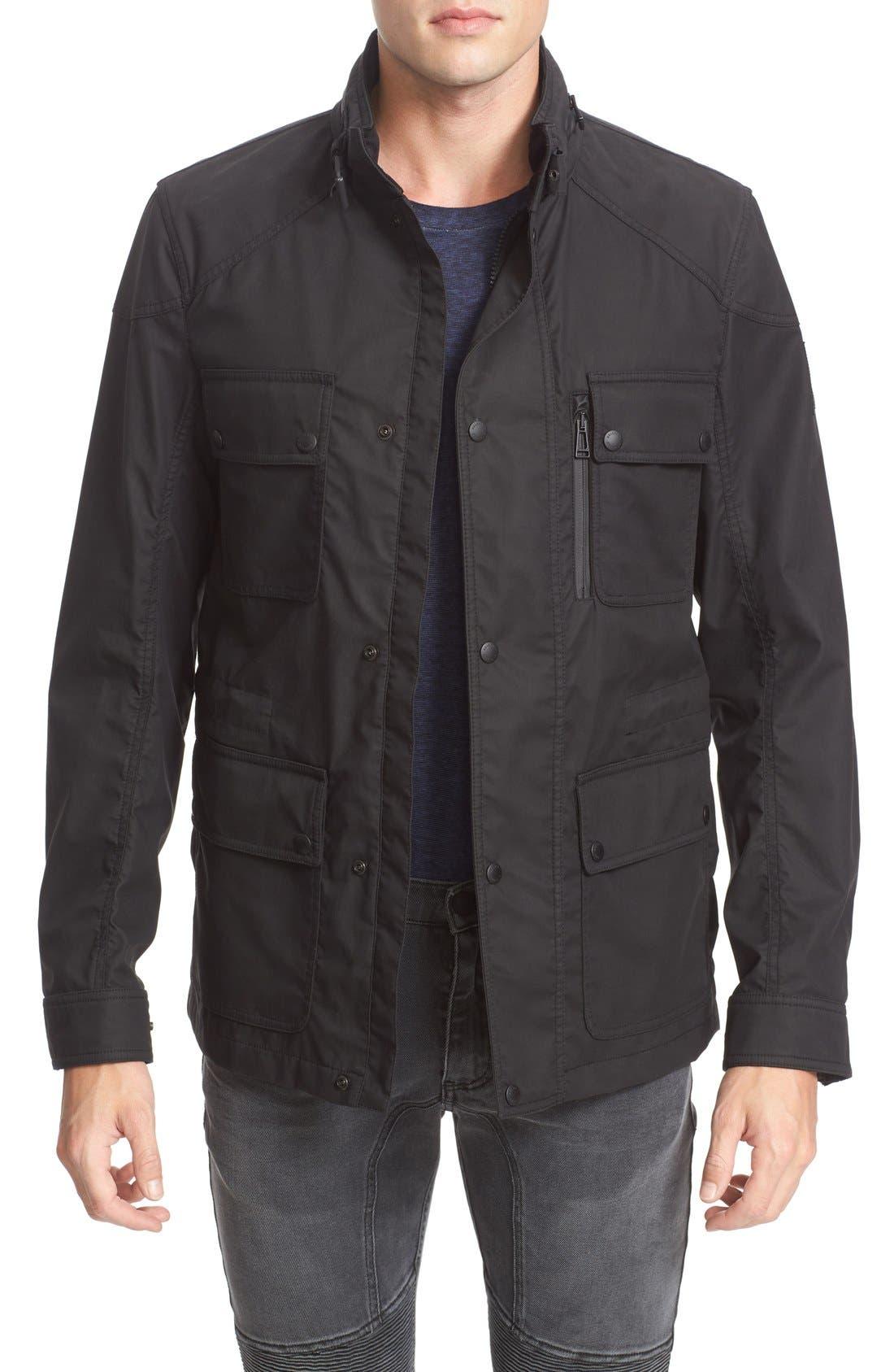 BELSTAFF Trailmaster Staywax Jacket, Main, color, 001