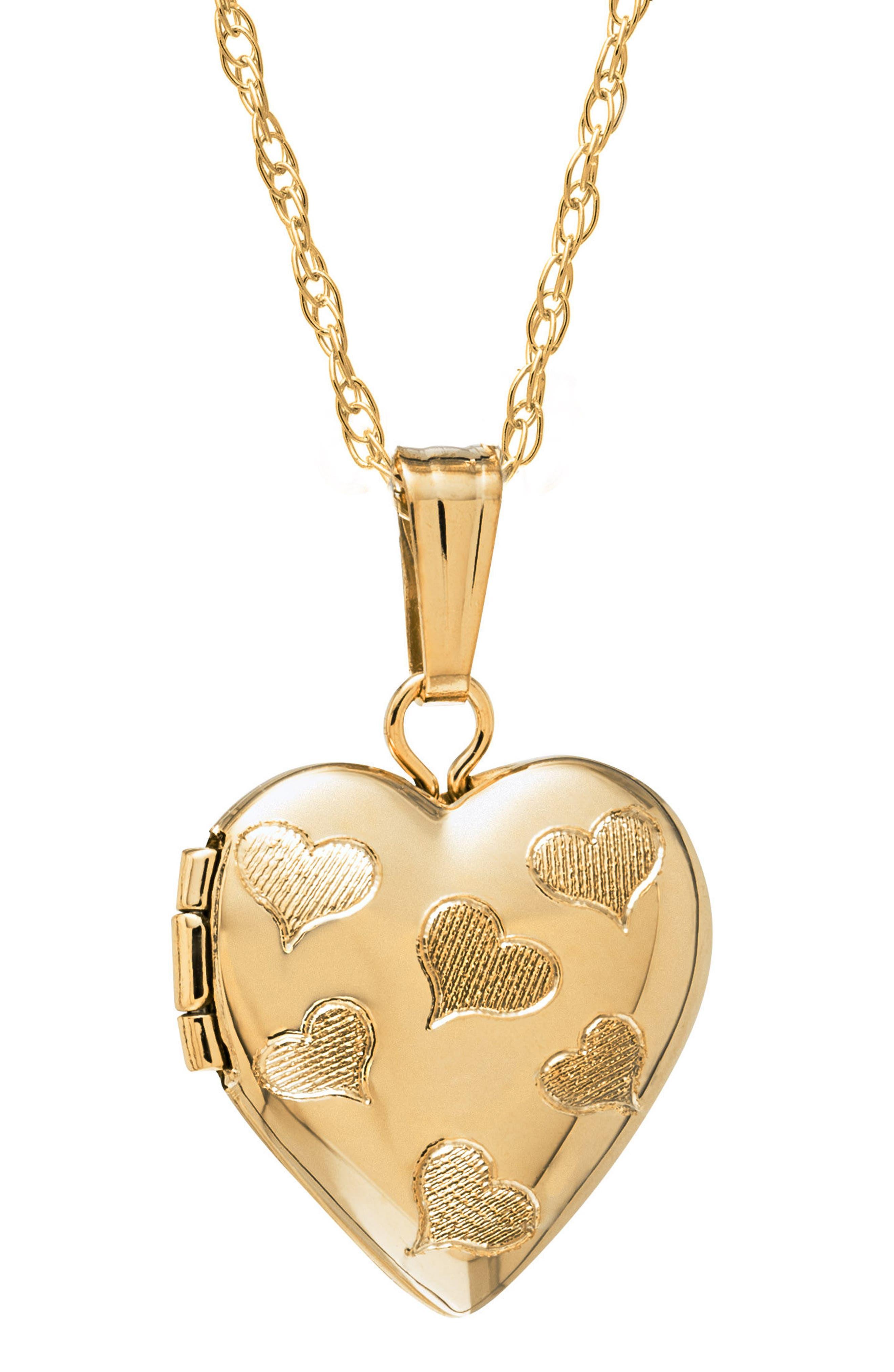 Girls Mignonette 14K Gold Heart Locket Necklace