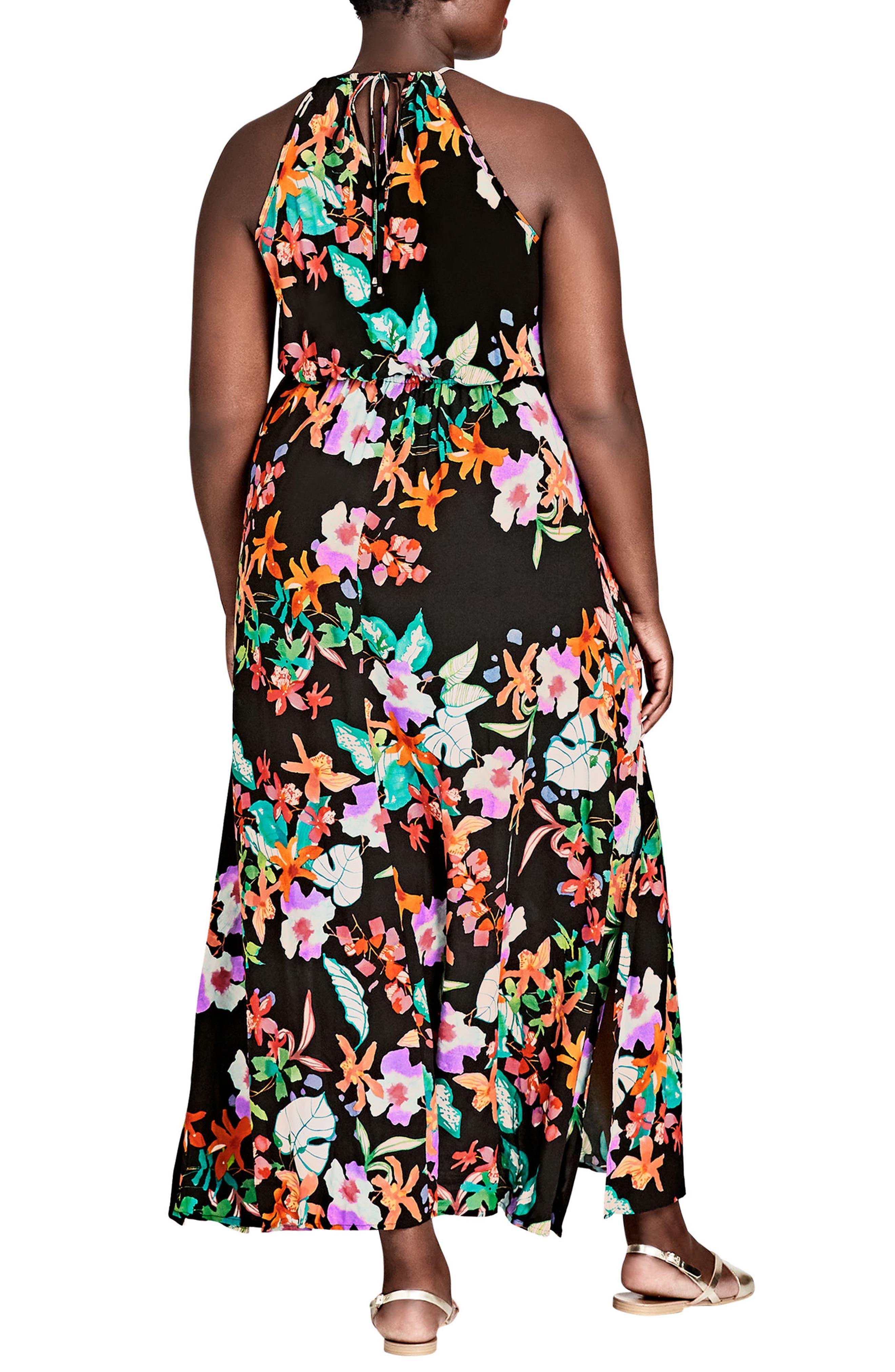 Molokai Floral Maxi Dress,                             Alternate thumbnail 2, color,                             MOLOKAI FLORAL