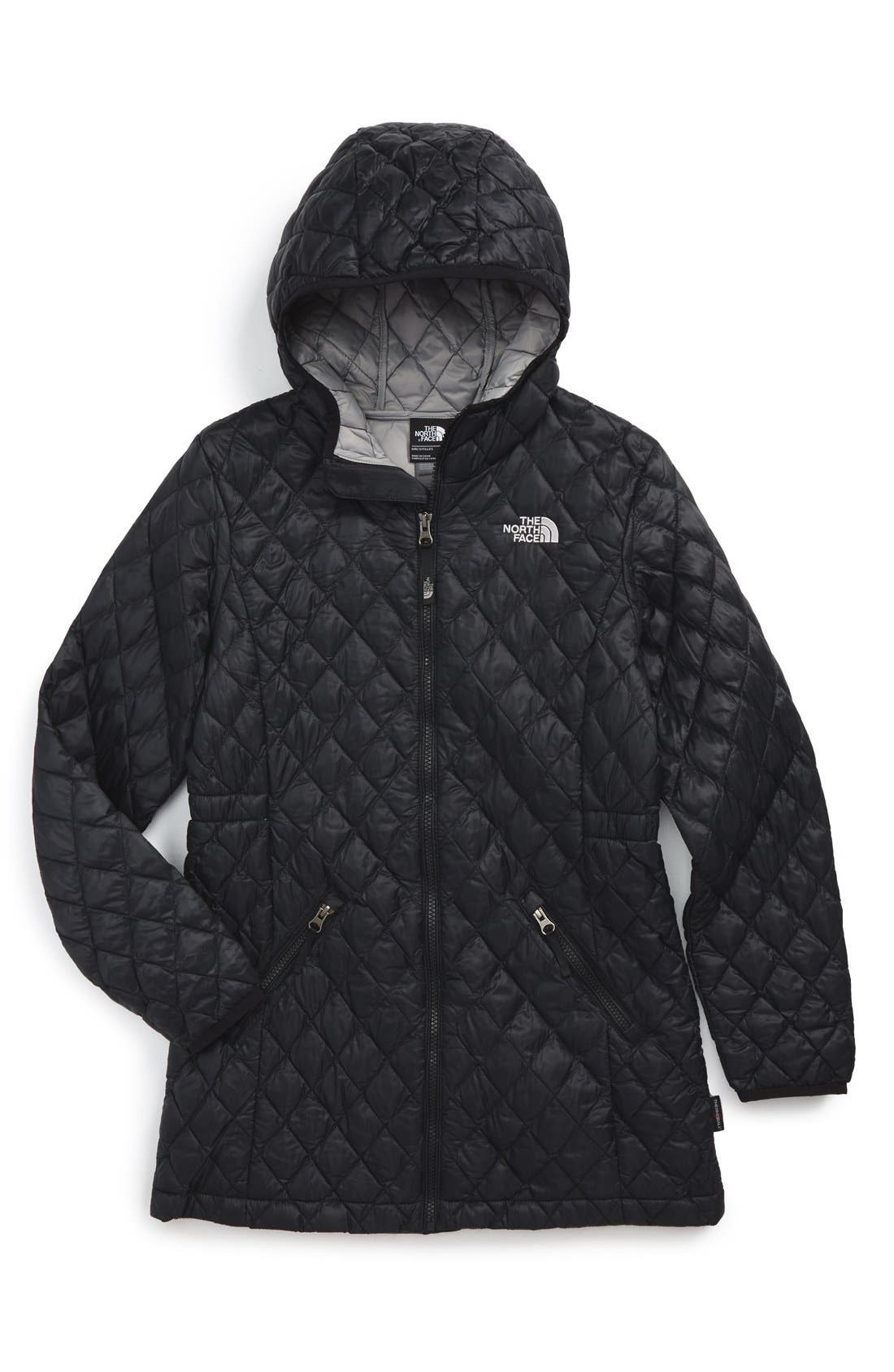 'ThermoBall<sup>™</sup>' PrimaLoft<sup>®</sup> Quilted Parka,                             Main thumbnail 1, color,                             TNF BLACK