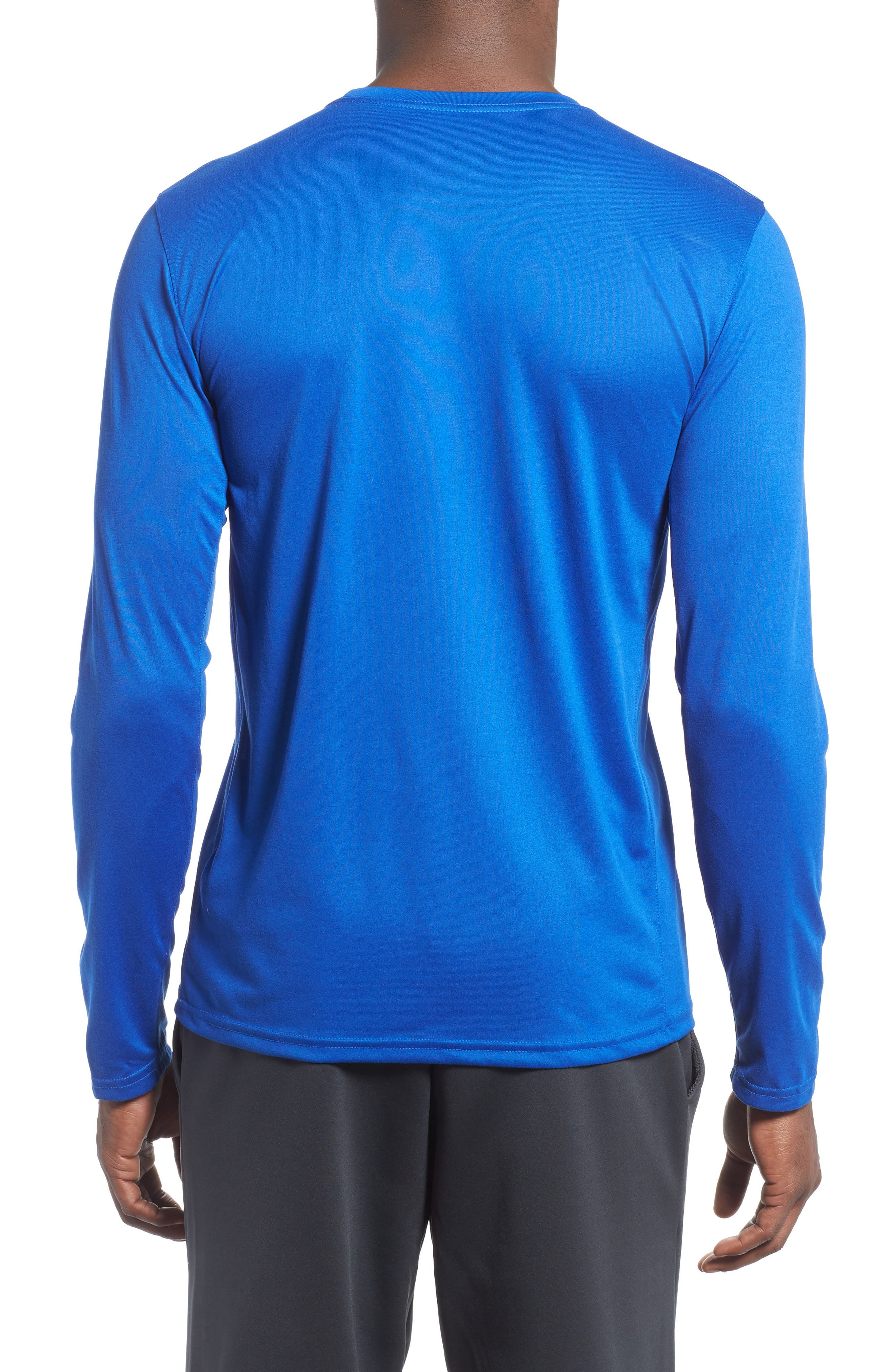 'Legend 2.0' Long Sleeve Dri-FIT Training T-Shirt,                             Alternate thumbnail 6, color,                             GAME ROYAL/ BLACK