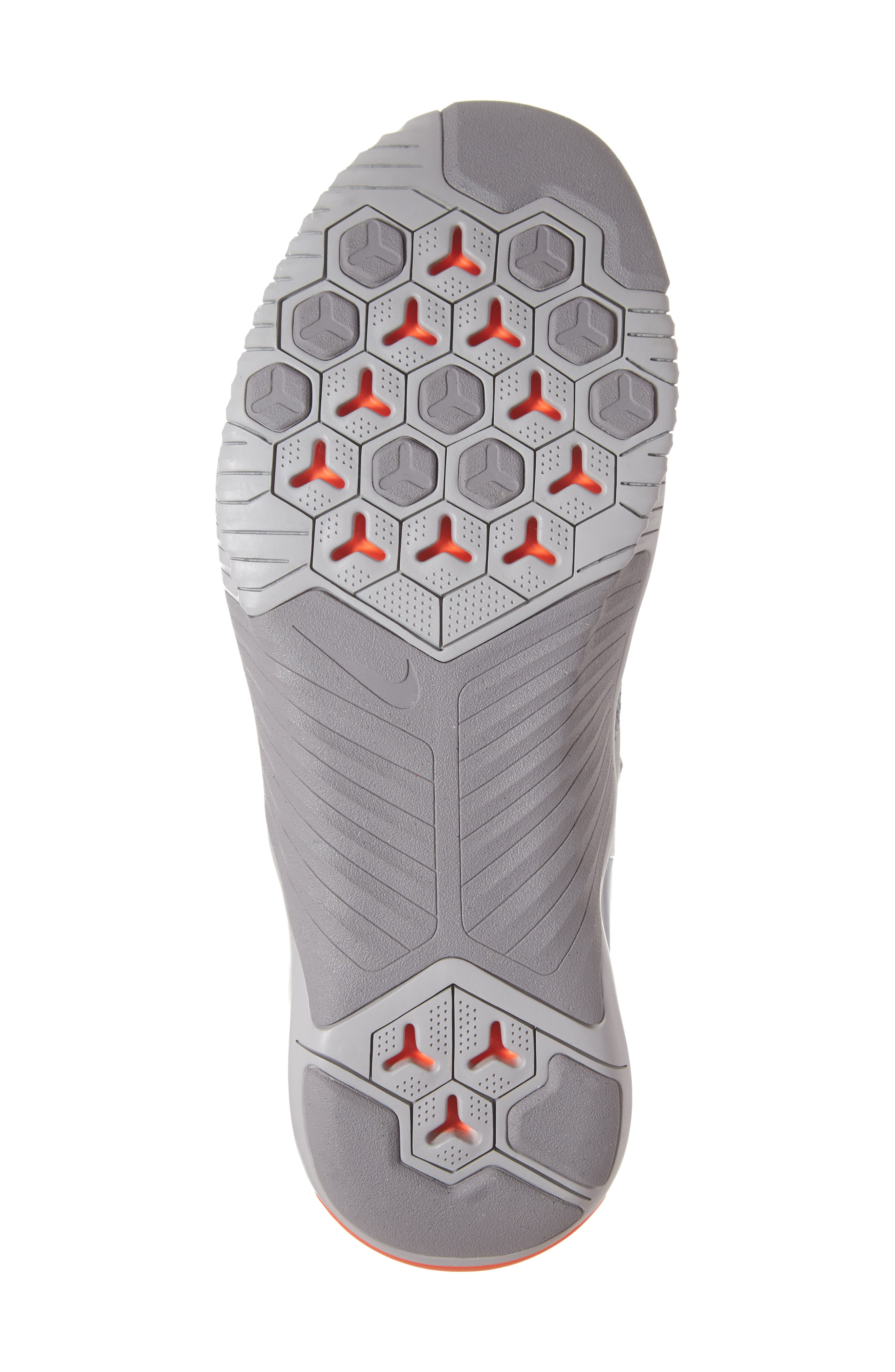 Free x Metcon Training Shoe,                             Alternate thumbnail 6, color,                             GREY/ WHITE/ CRIMSON