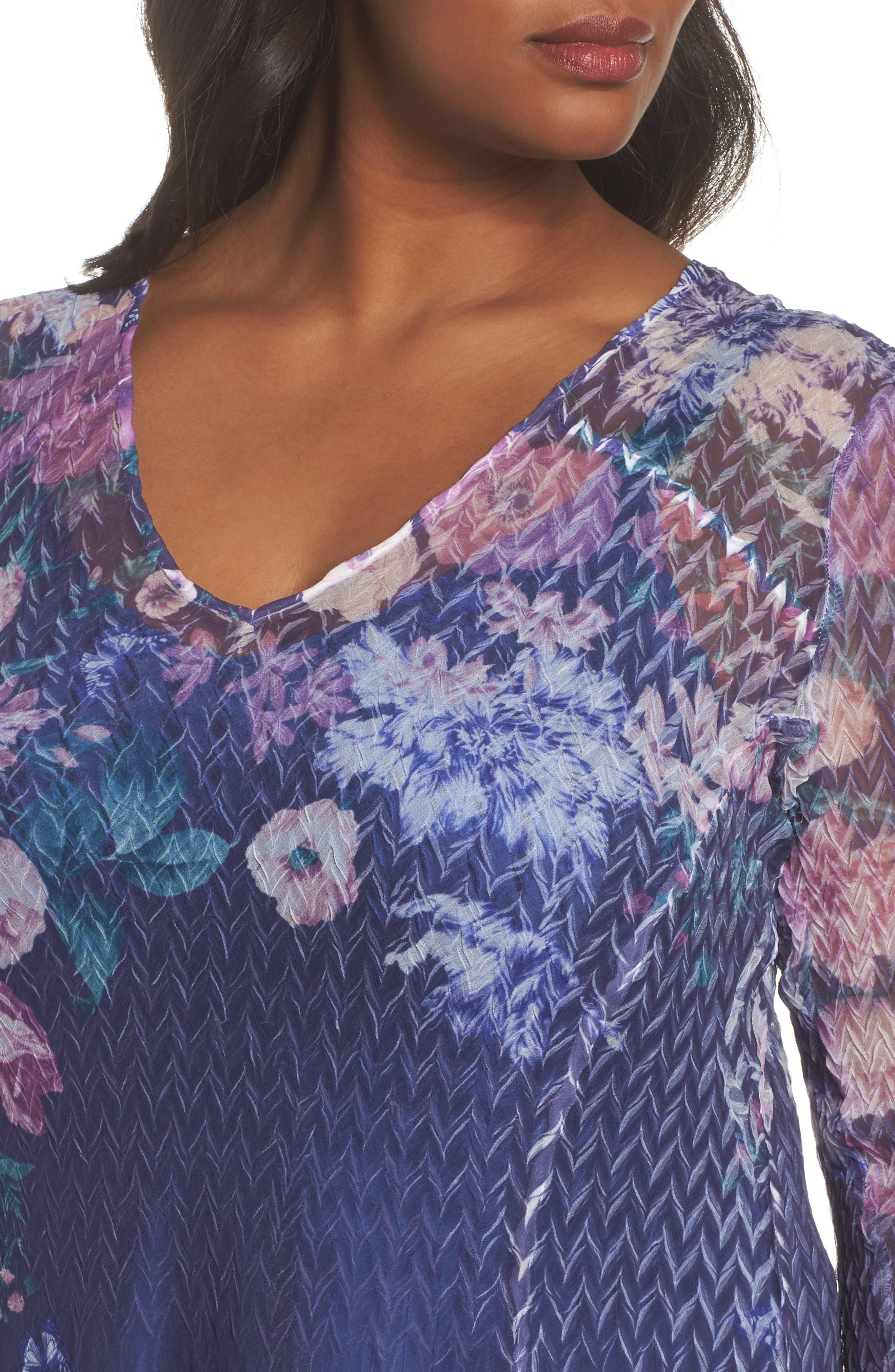 Chiffon Handkerchief Hem Dress,                             Alternate thumbnail 4, color,                             413