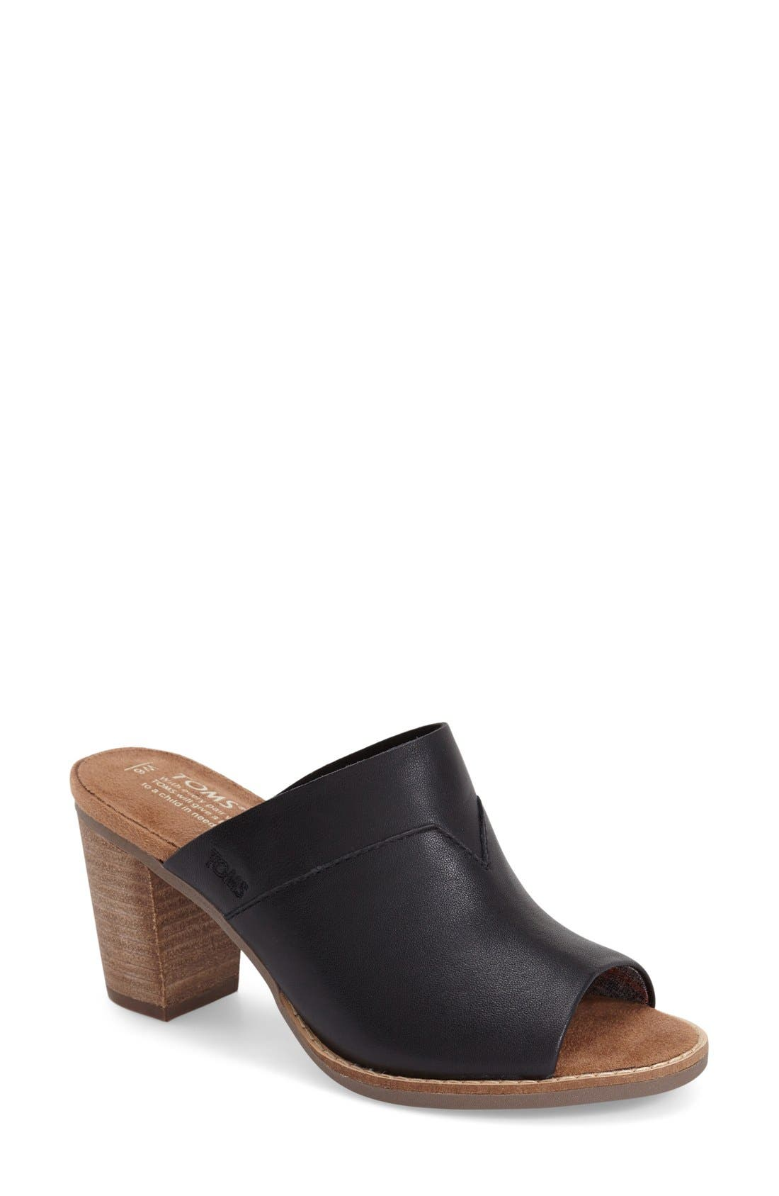 'Majorca' Mule Sandal,                             Main thumbnail 1, color,                             001