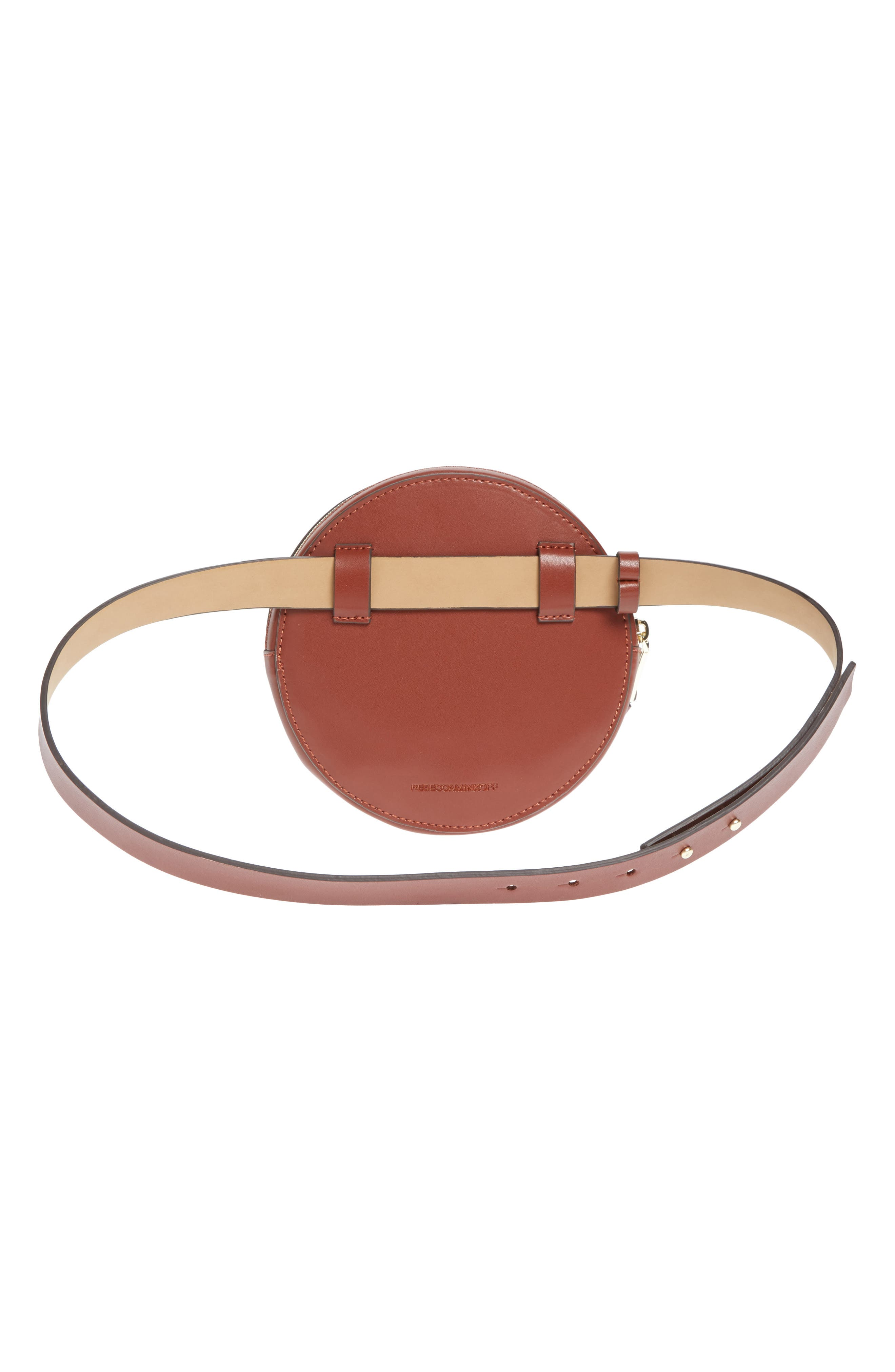 Lucy Leather Belt Bag,                             Alternate thumbnail 3, color,                             LUGGAGE