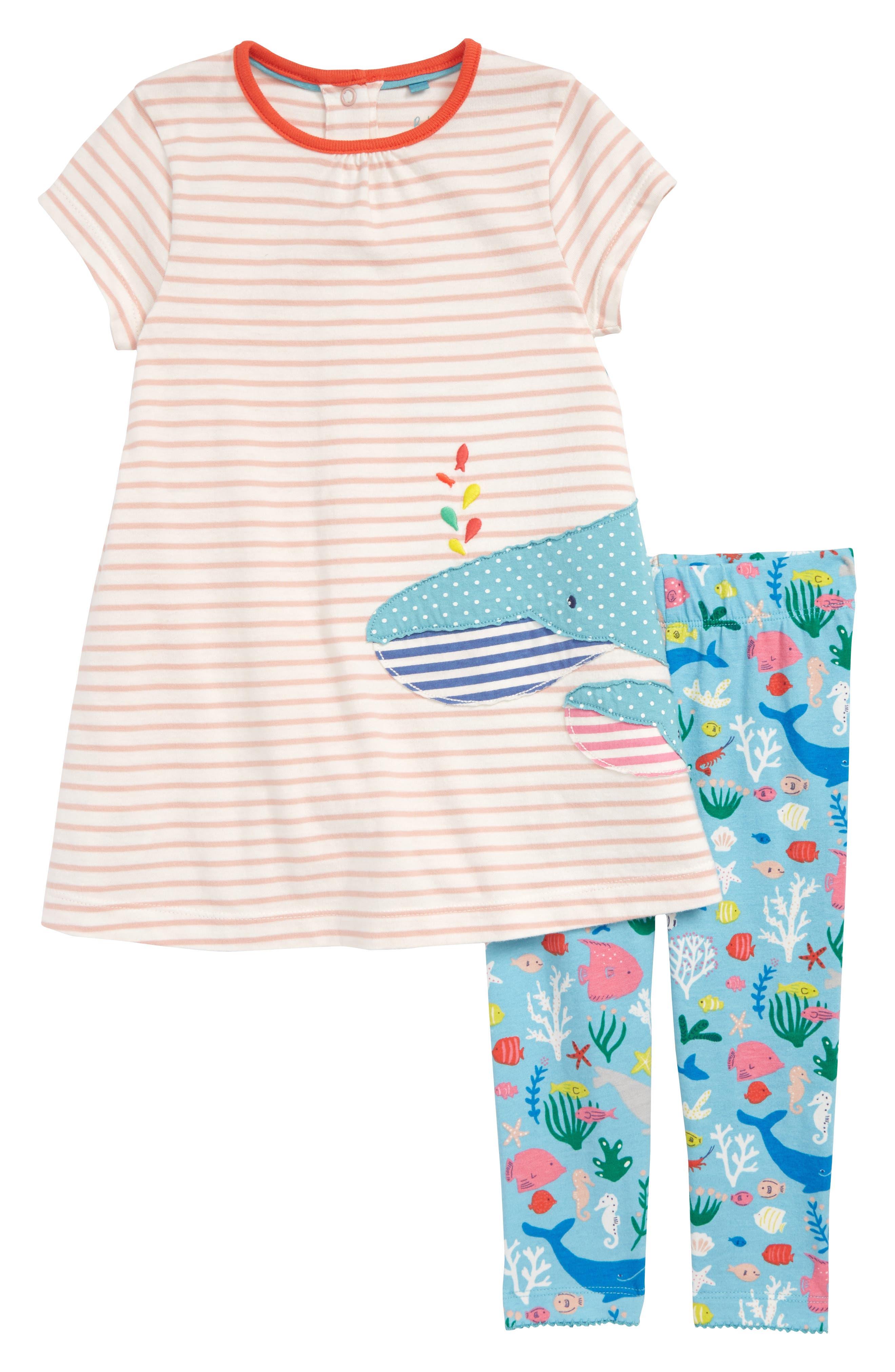Appliqué T-Shirt Dress & Leggings Set,                             Main thumbnail 1, color,                             684