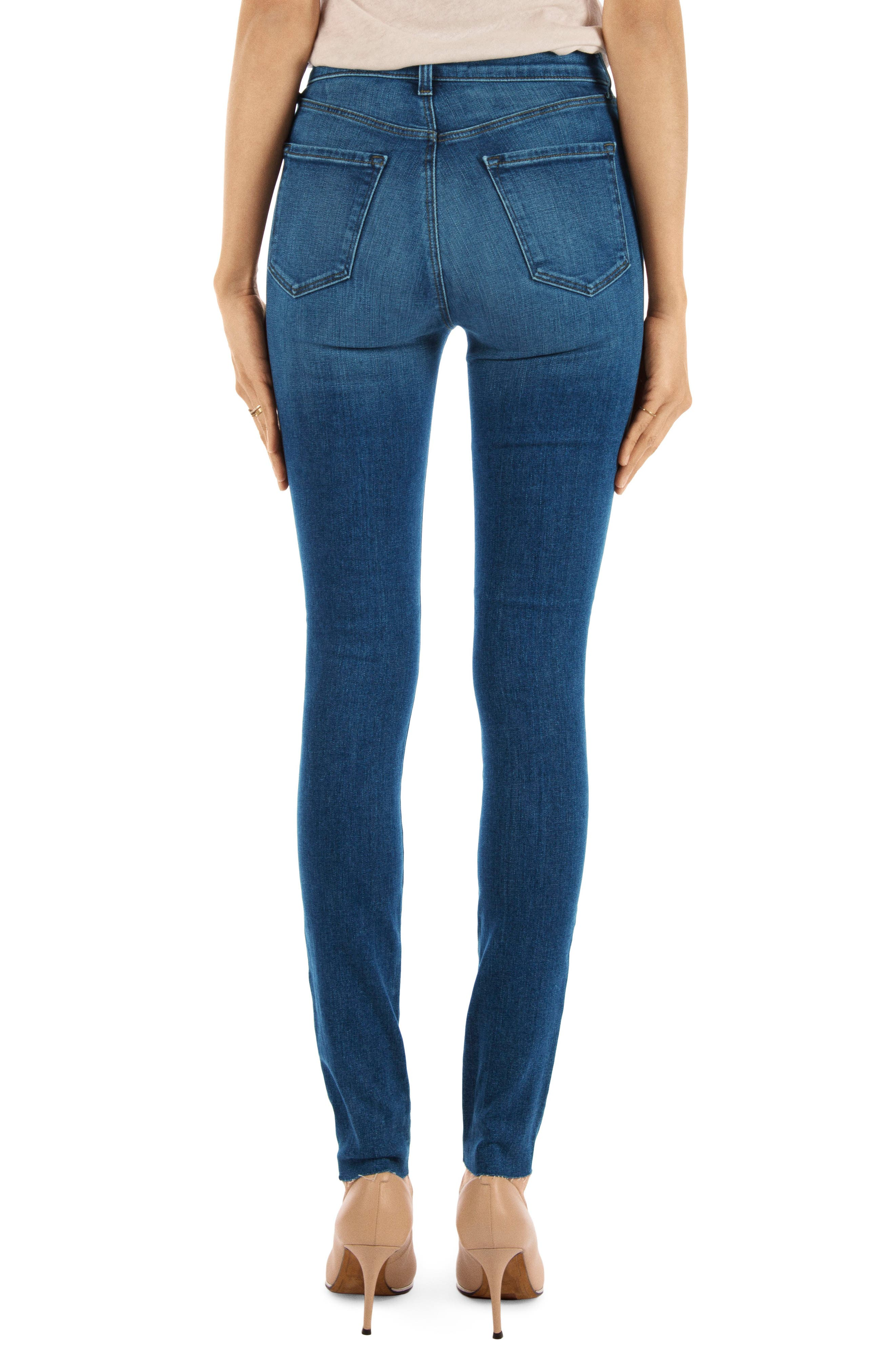 Carolina Super High Waist Skinny Jeans,                             Alternate thumbnail 2, color,                             LOVESICK