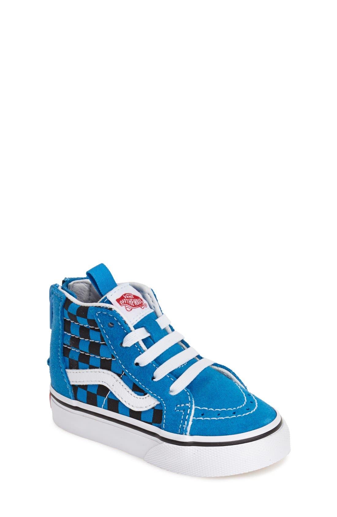 'Sk8-Hi' Zip Sneaker,                             Main thumbnail 3, color,