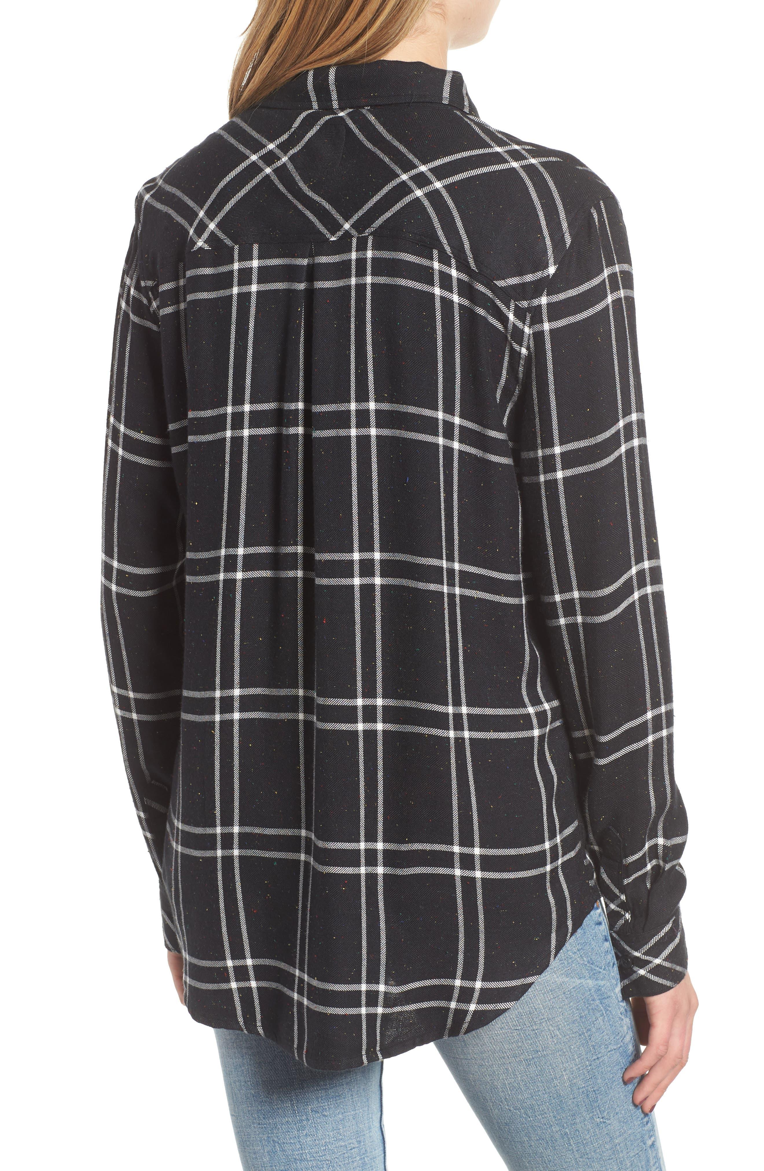 Hunter Plaid Shirt,                             Alternate thumbnail 2, color,                             SPECKLED BLACK