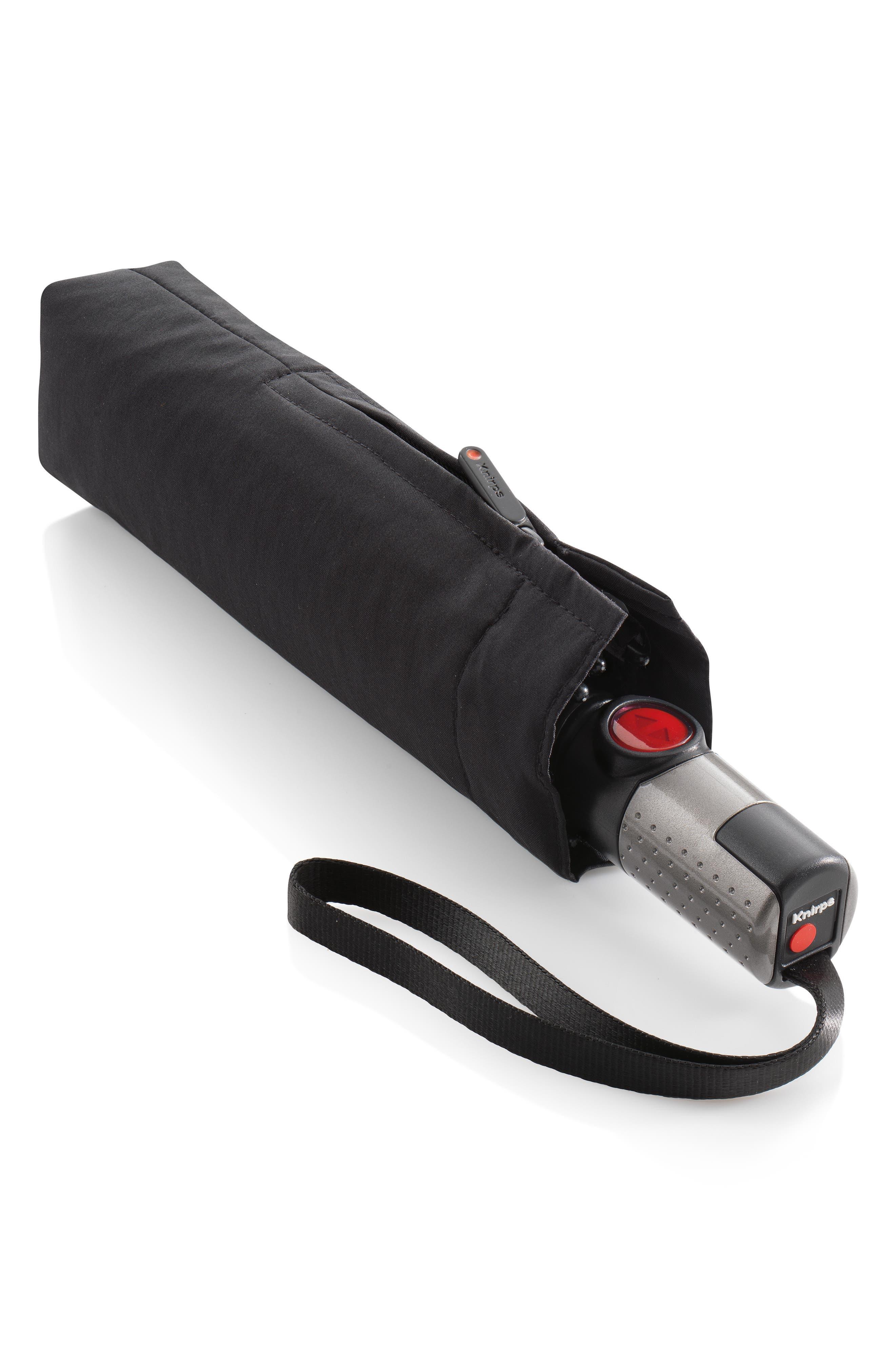 T200 Auto Open/Close Umbrella,                             Main thumbnail 1, color,                             BLACK