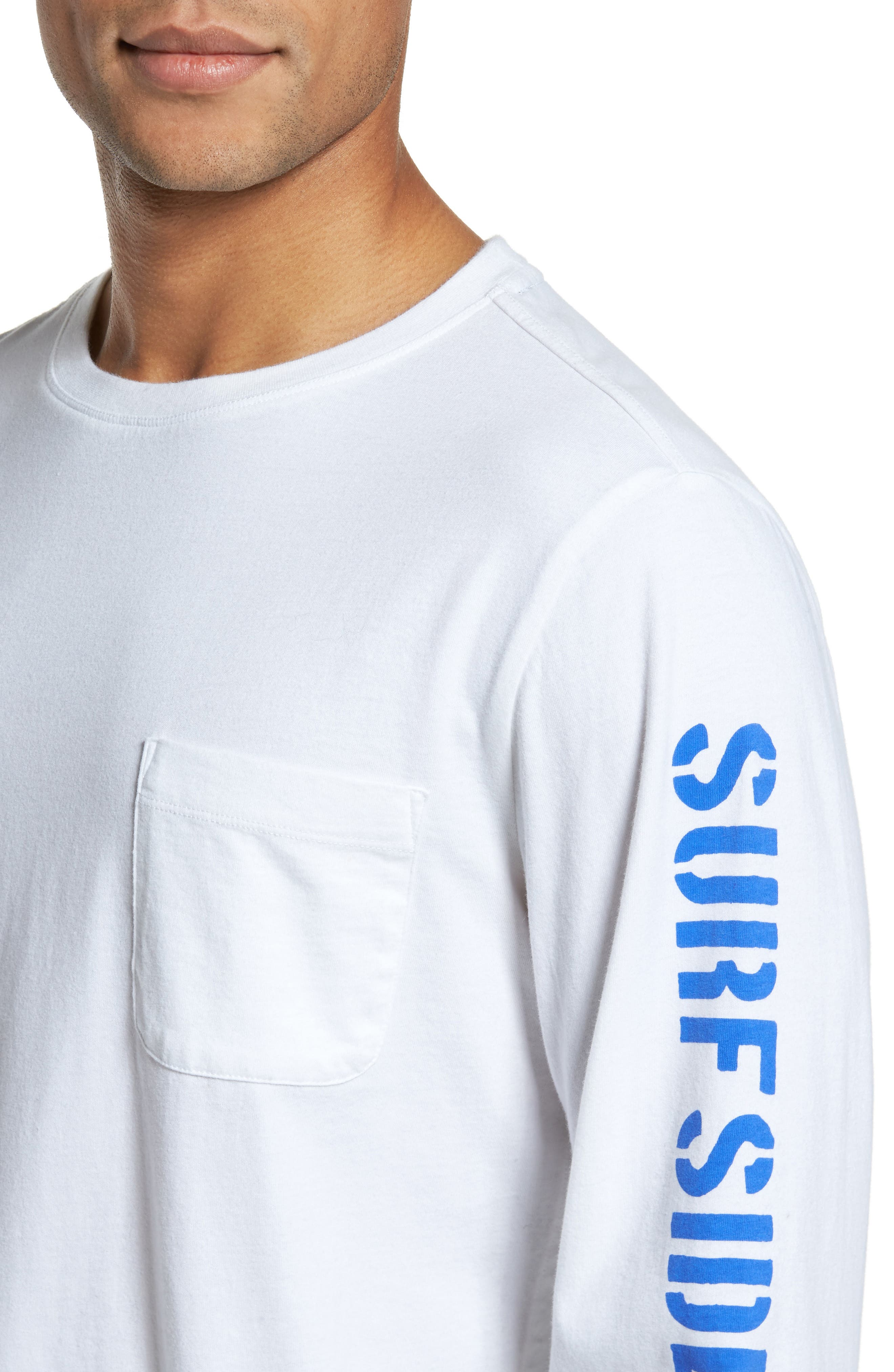 Logo Jersey Crewneck T-Shirt,                             Alternate thumbnail 4, color,                             100