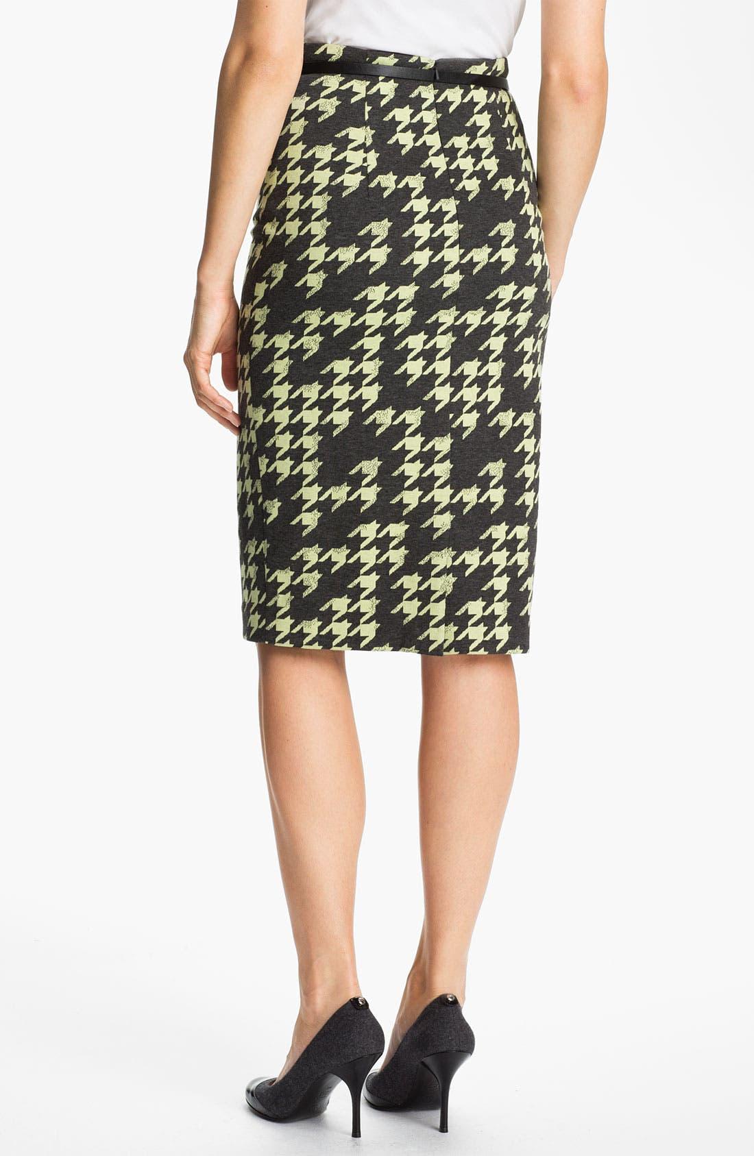 Belted Ponte Skirt,                             Alternate thumbnail 17, color,