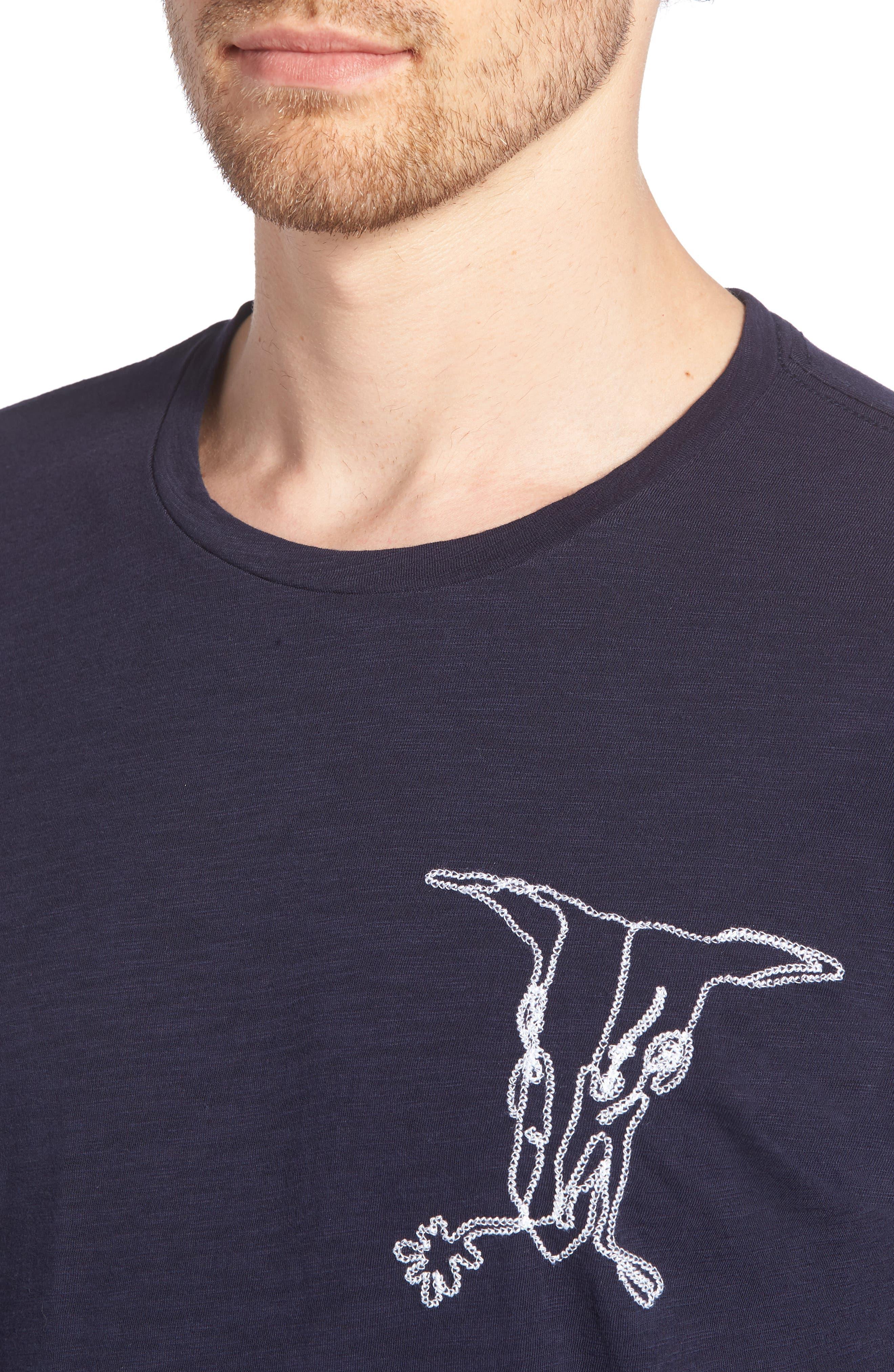 Desert Skull Slim Fit T-Shirt,                             Alternate thumbnail 4, color,