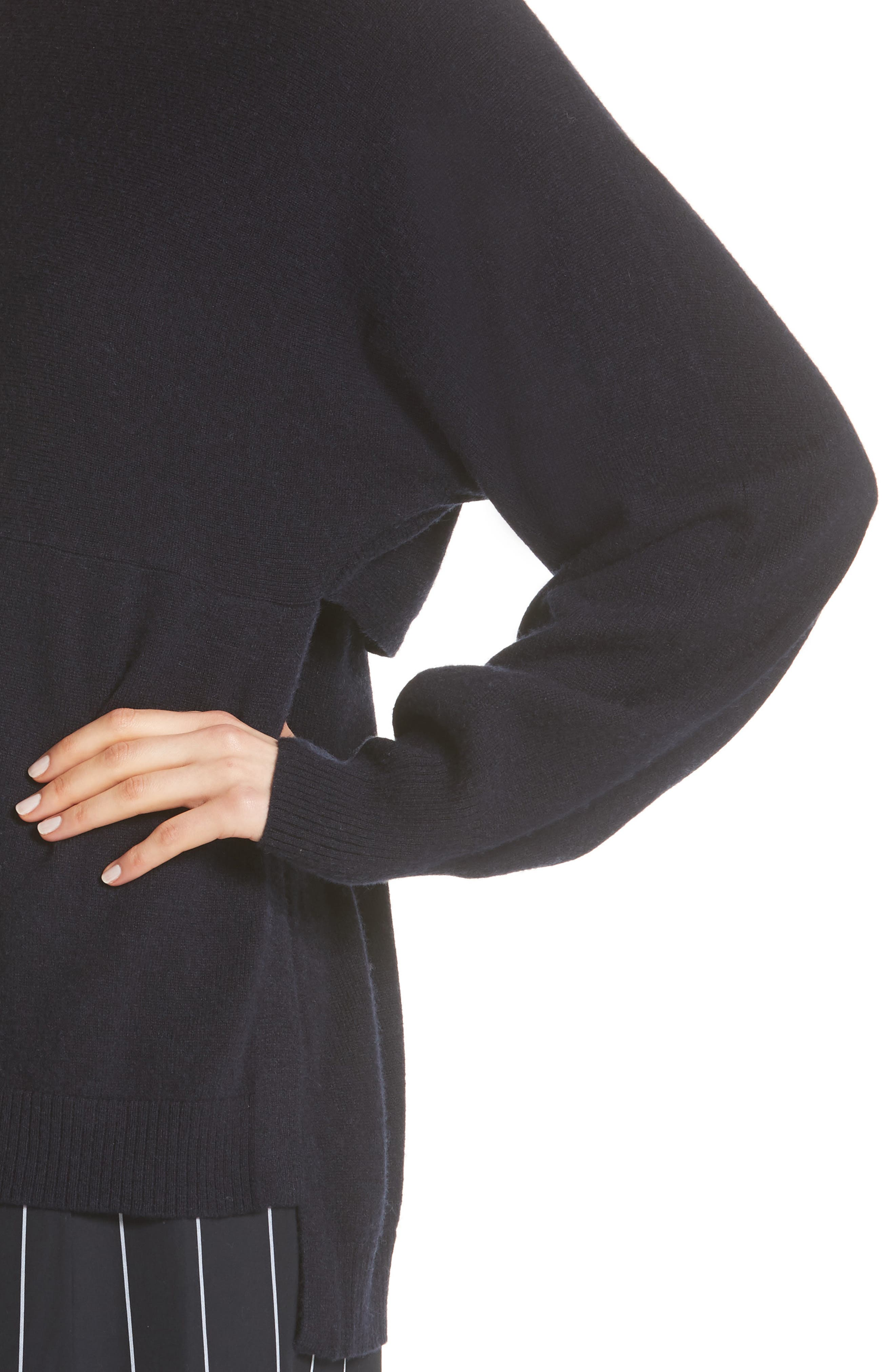 Layered Back Wool Cashmere Boatneck Sweater,                             Alternate thumbnail 4, color,                             403